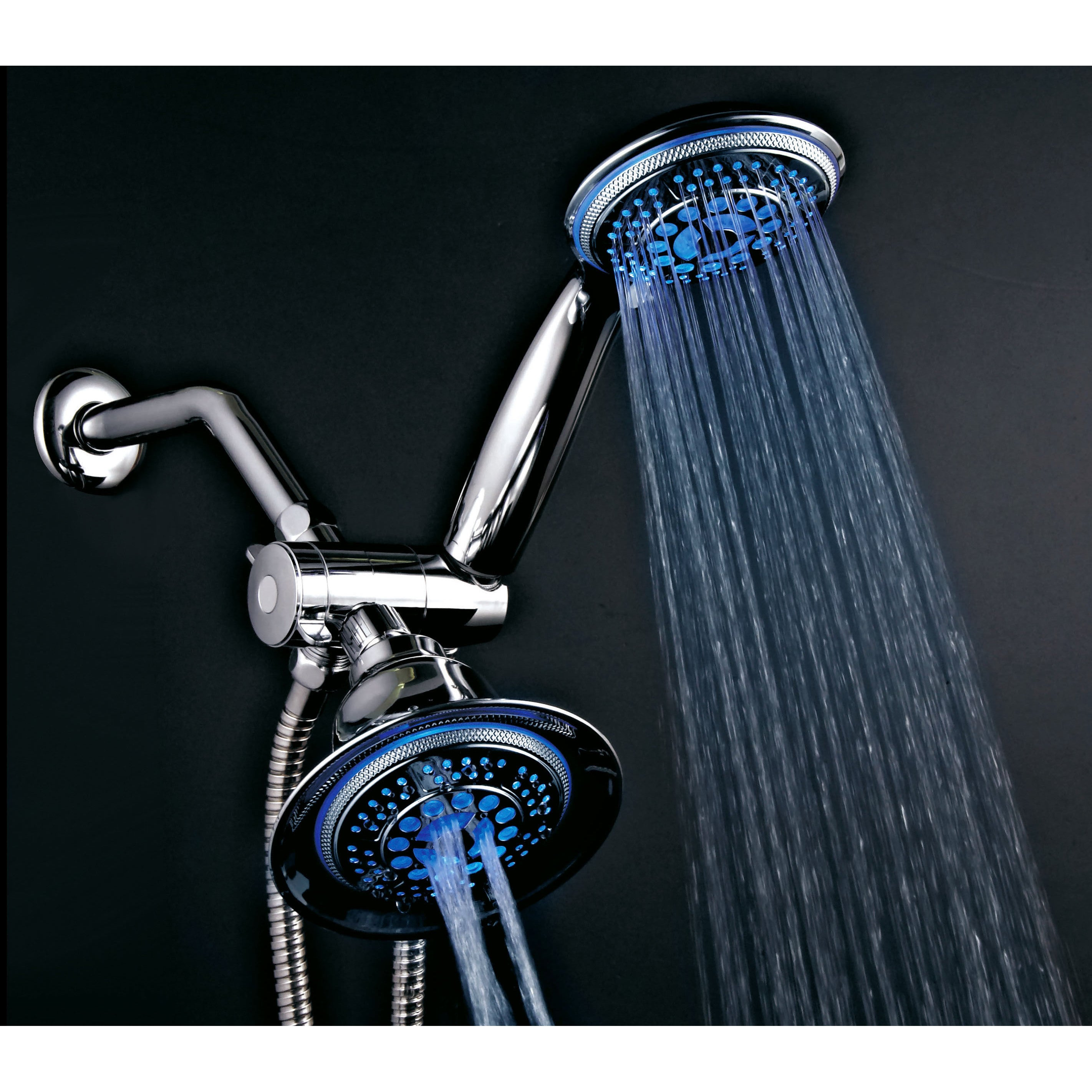 Shop Dreamspa Temperature Sensitive LED Combination Shower Head ...