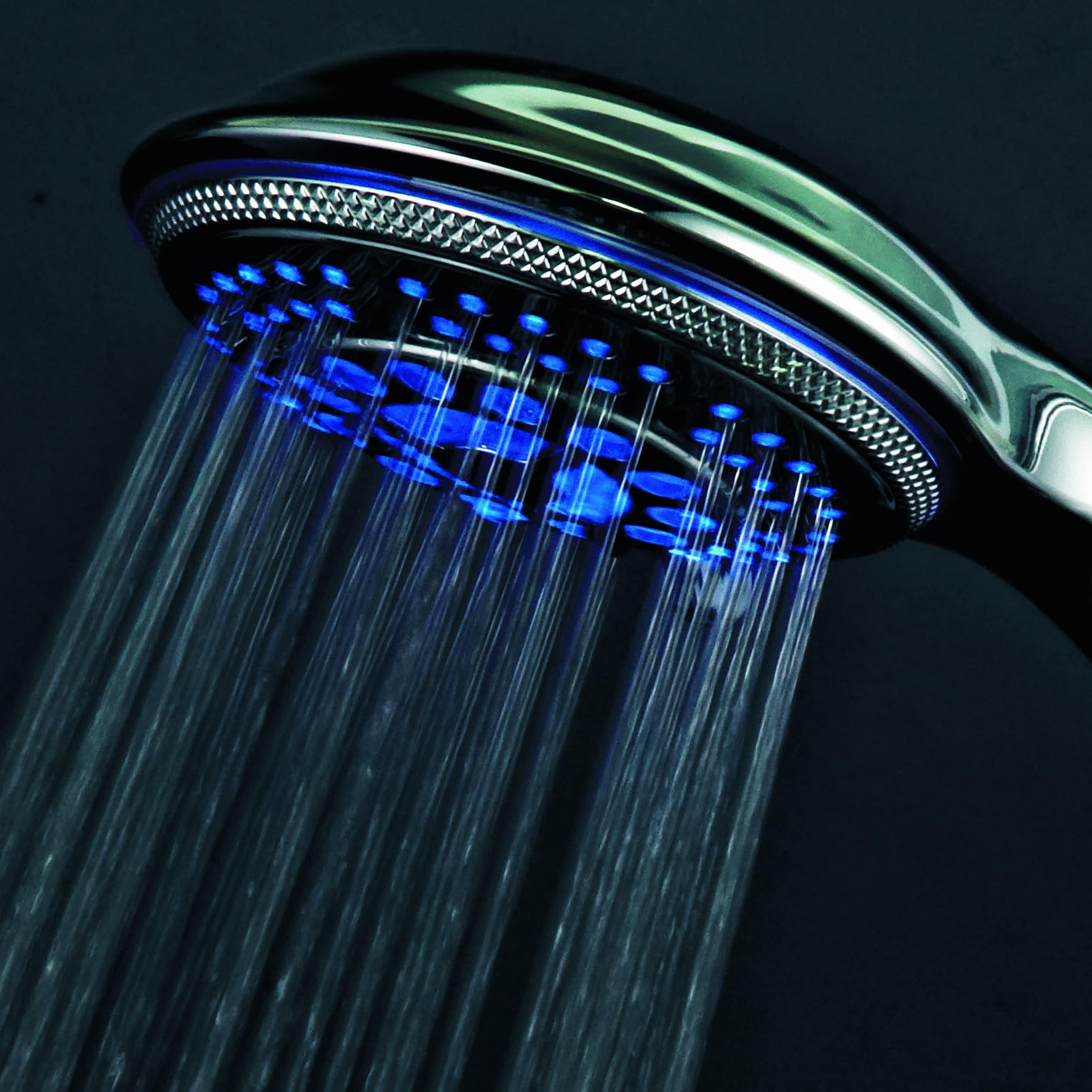 Shop Dreamspa Temperature Sensitive LED Combination Shower Head ...