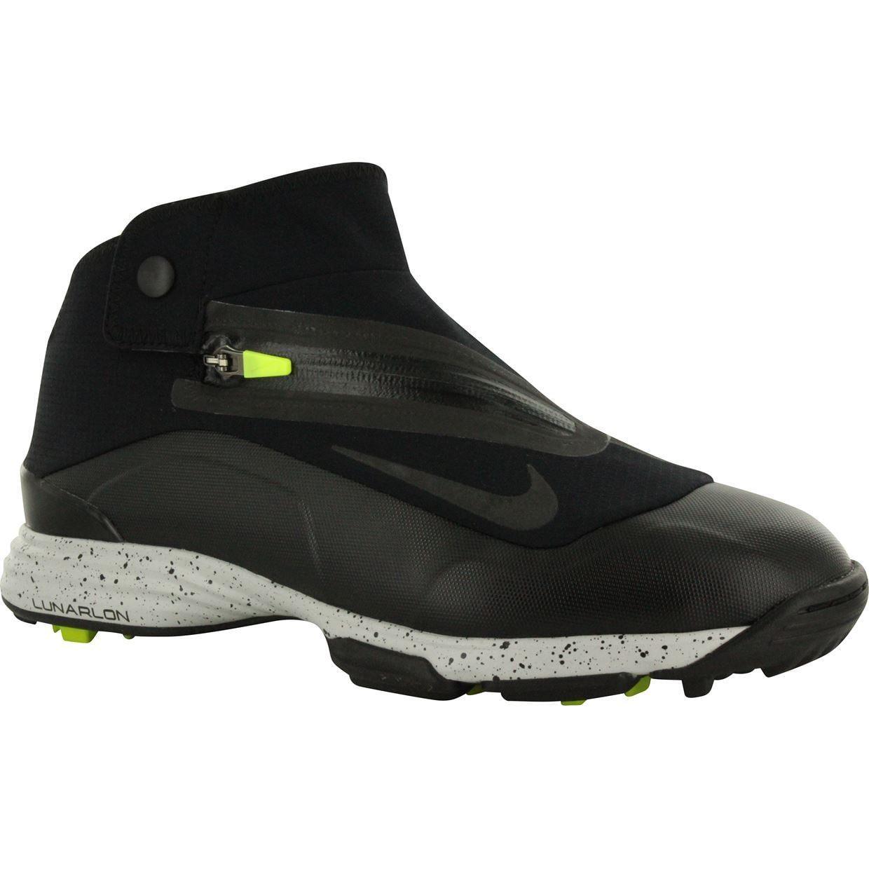 huge discount 5c0ca 7038a Mens Nike Lunar Bandon II Spikeless Golf Shoes 552072-002 black volt black