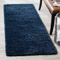 Safavieh California Cozy Plush Navy Shag Rug (2'3 x 11')