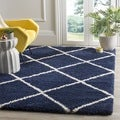 Clay Alder Home Horton Mill Diamond Shag Navy/ Ivory Rug (8' x 10')