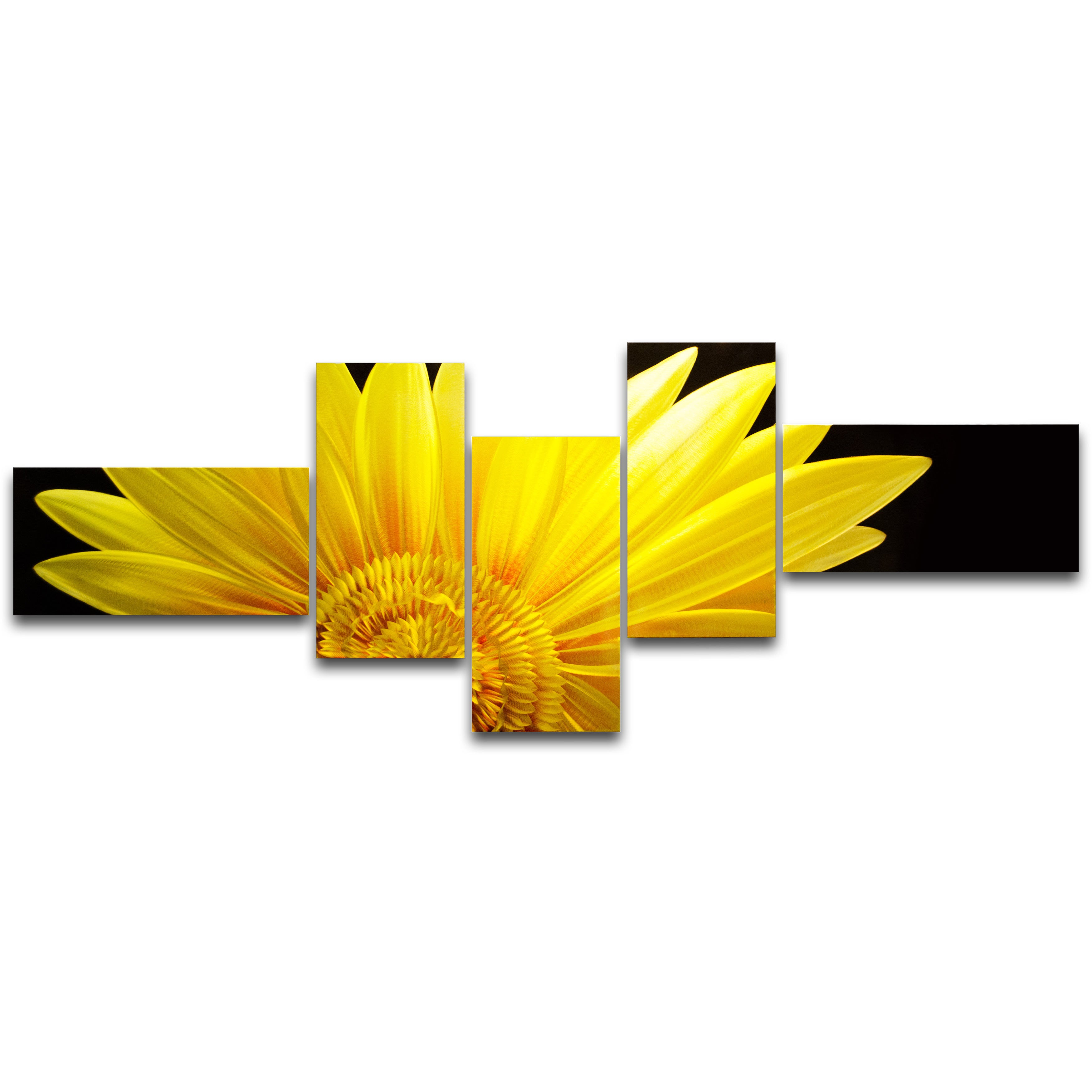The Sunflower\' 5-panel Metal Wall Art - Free Shipping Today ...