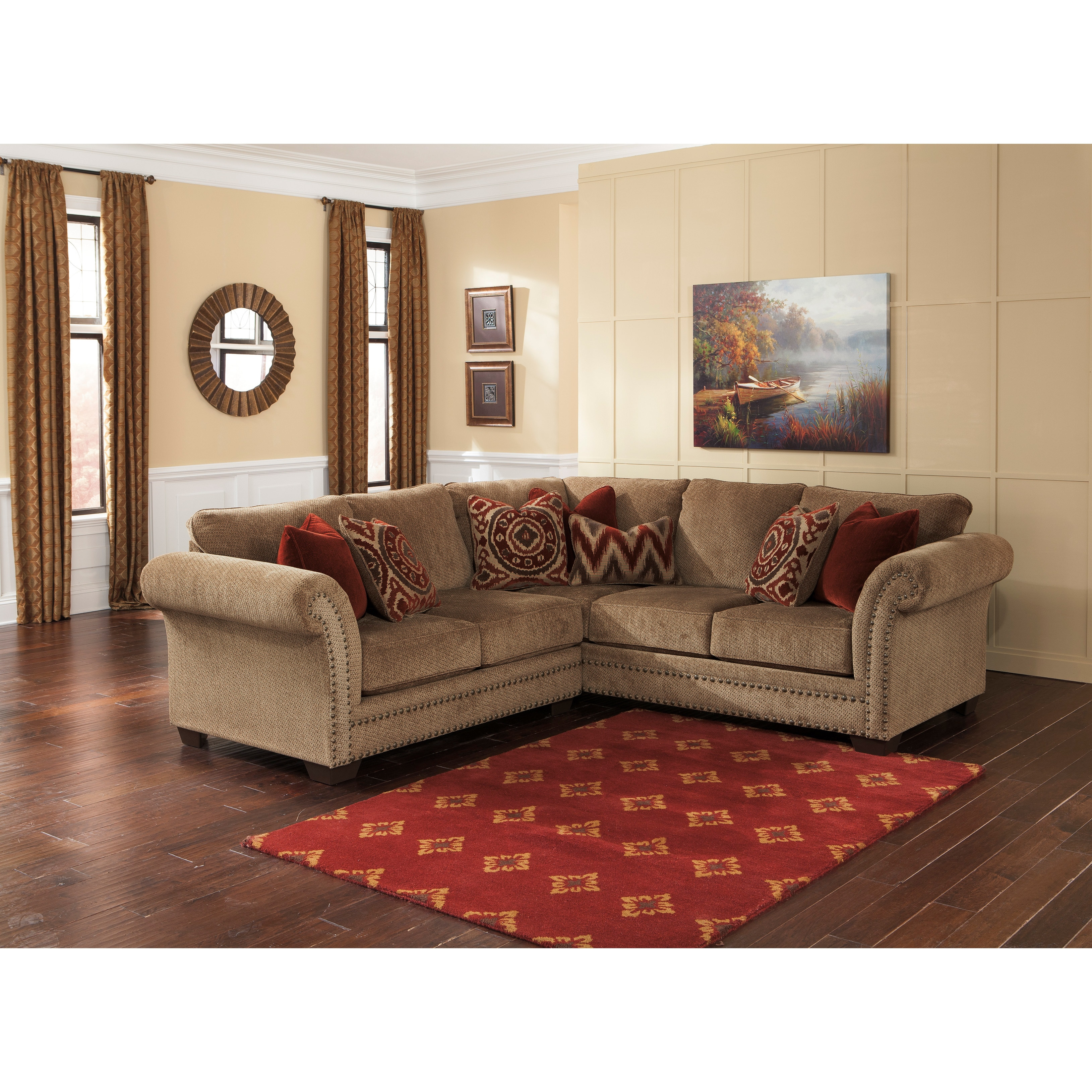 Shop Signature Design by Ashley Grecian Amber Loveseat and Sofa ...