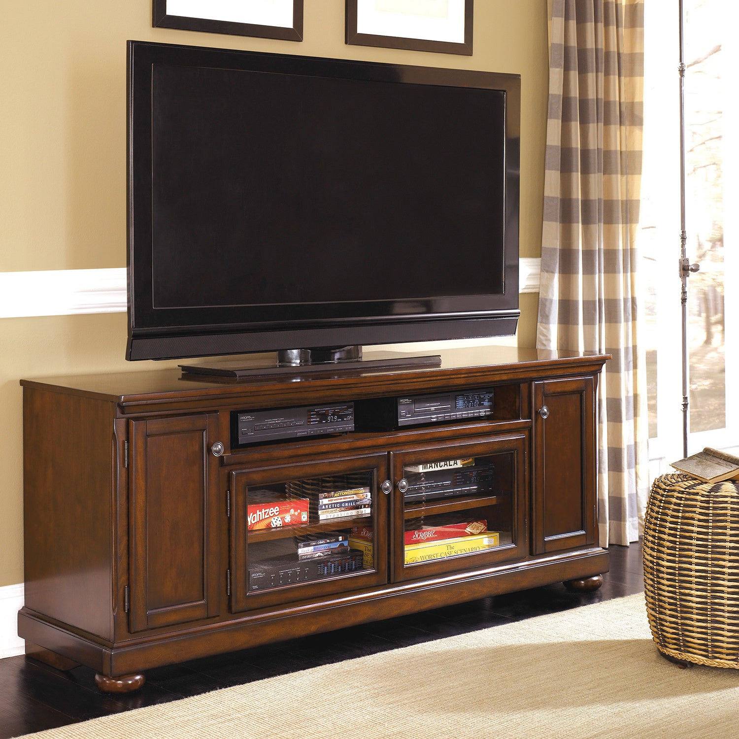 Shop Signature Designs By Ashley Porter Extra Large Rustic Brown Tv