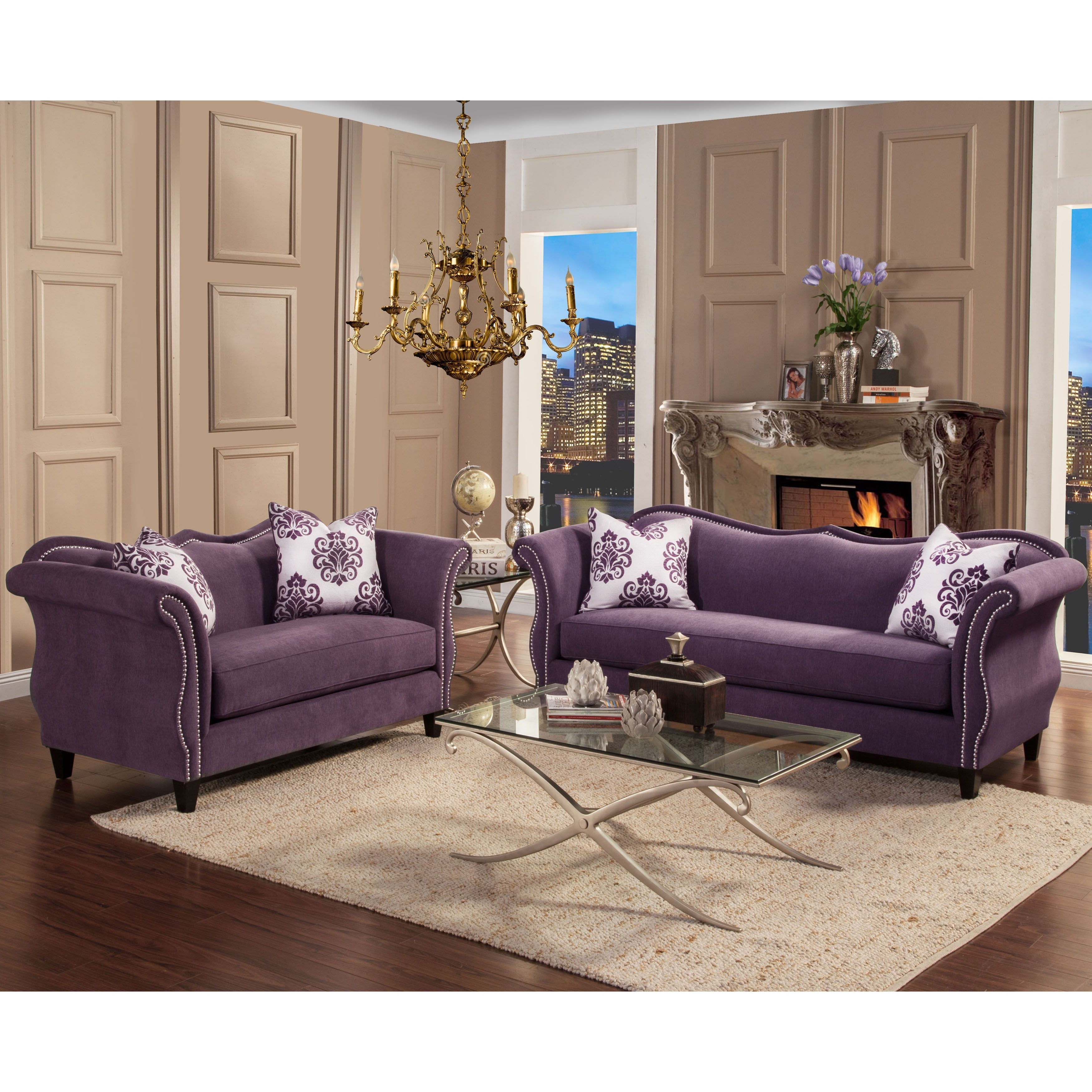 Furniture Of America Othello Loveseat Free Shipping Today  # Muebles Lady Lucky