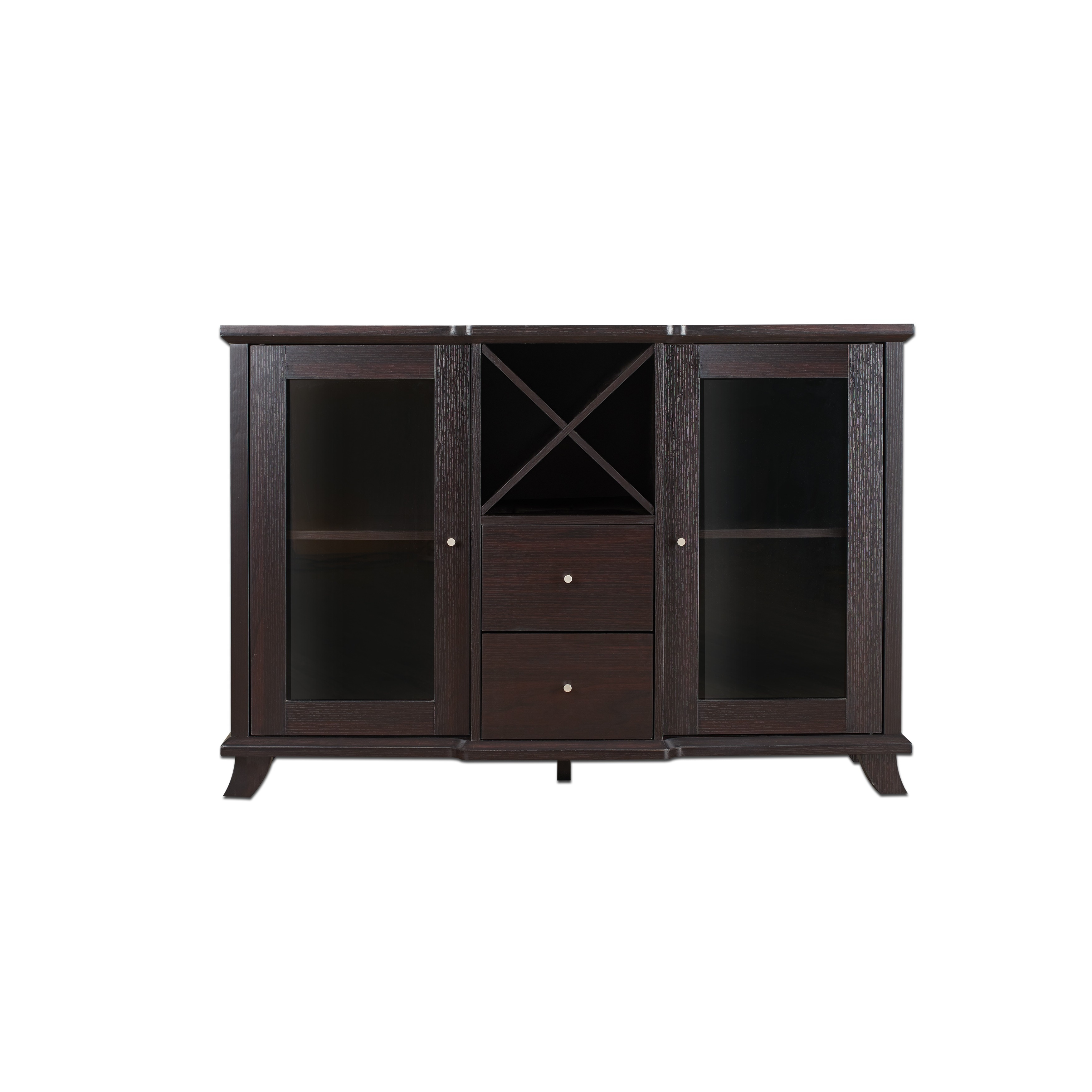Shop Furniture Of America Synthie Cappuccino Multi Storage Dining Buffet    On Sale   Free Shipping Today   Overstock.com   9584169