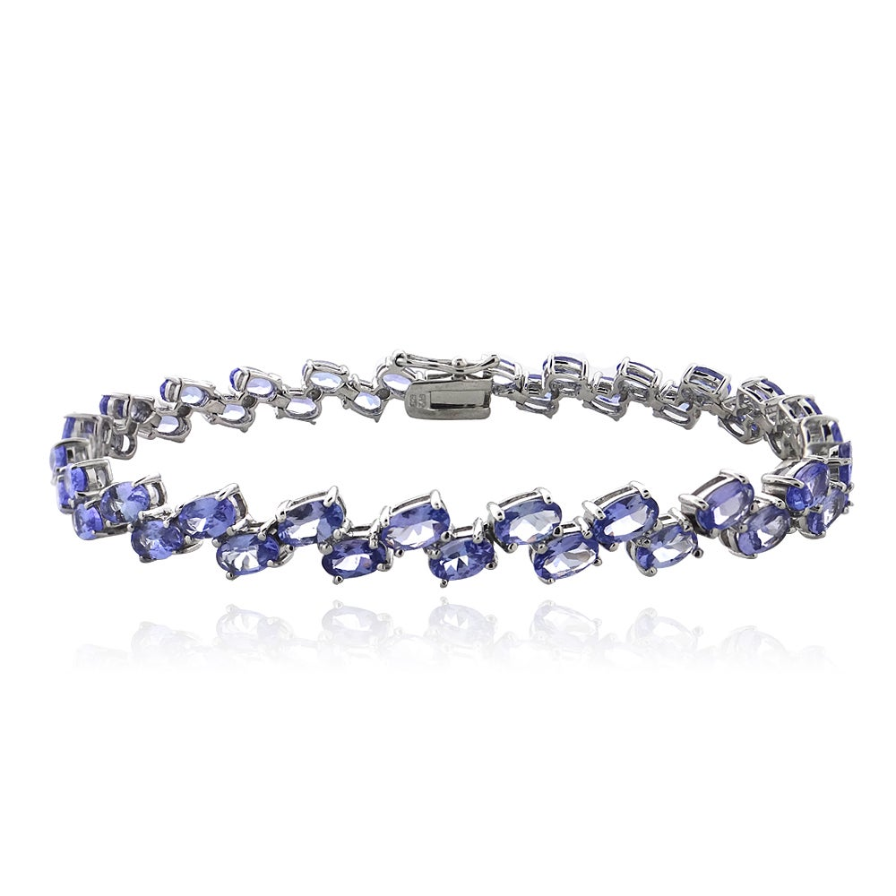 overstock today free row rocks glitzy jewelry watches tanzanite sterling shipping silver product bracelet