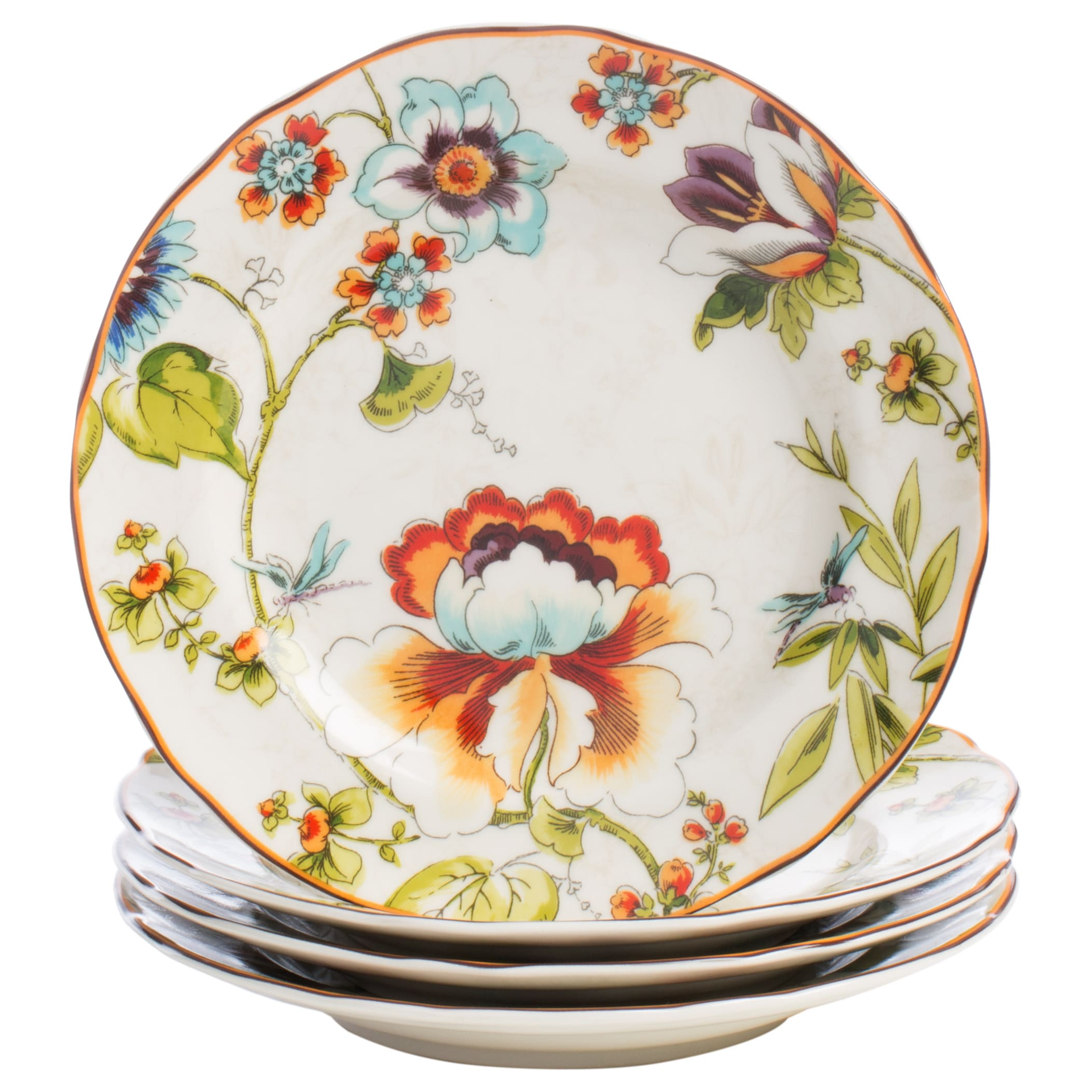 222 Fifth Bella Vista 16-piece Floral Dinnerware Set - Free Shipping Today - Overstock - 16770819  sc 1 st  Overstock & 222 Fifth Bella Vista 16-piece Floral Dinnerware Set - Free Shipping ...