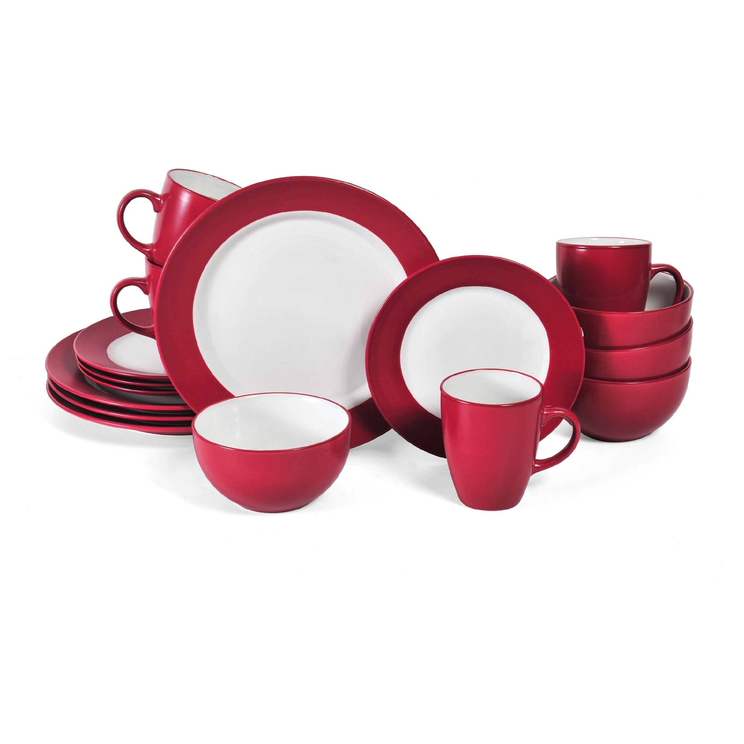 Shop Pfaltzgaff Harmony 16-piece Red Dinnerware Set - Free Shipping Today Overstock.com 9588308