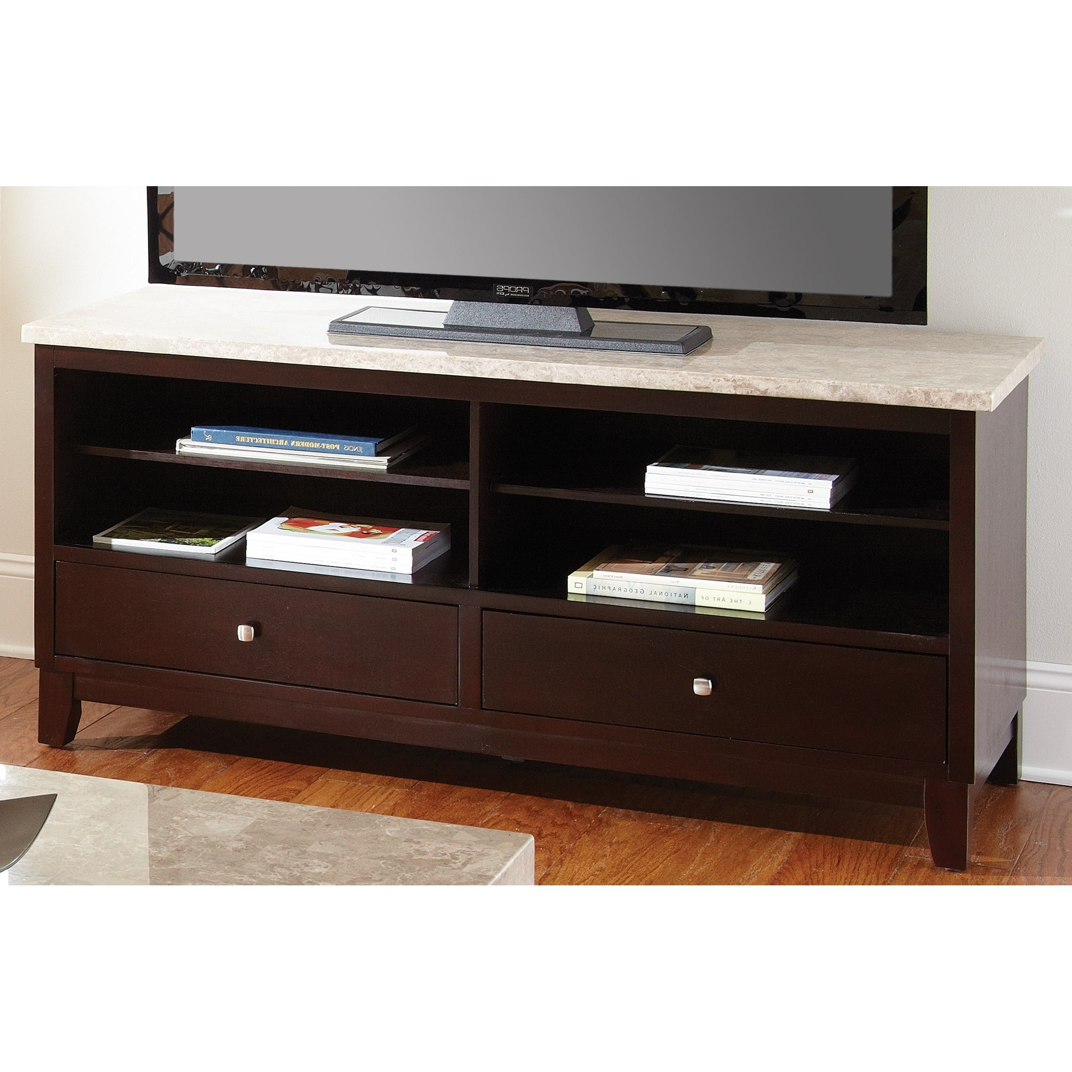 Greyson Living Malone Marble Top Media Console Free Shipping Today 9592917