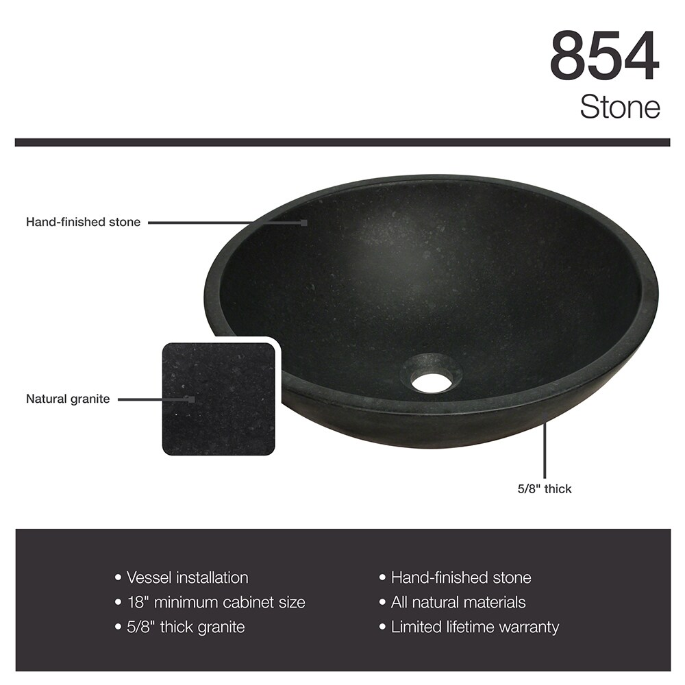 854 Honed Basalt Black Granite Vessel Sink   Free Shipping Today    Overstock   16778567