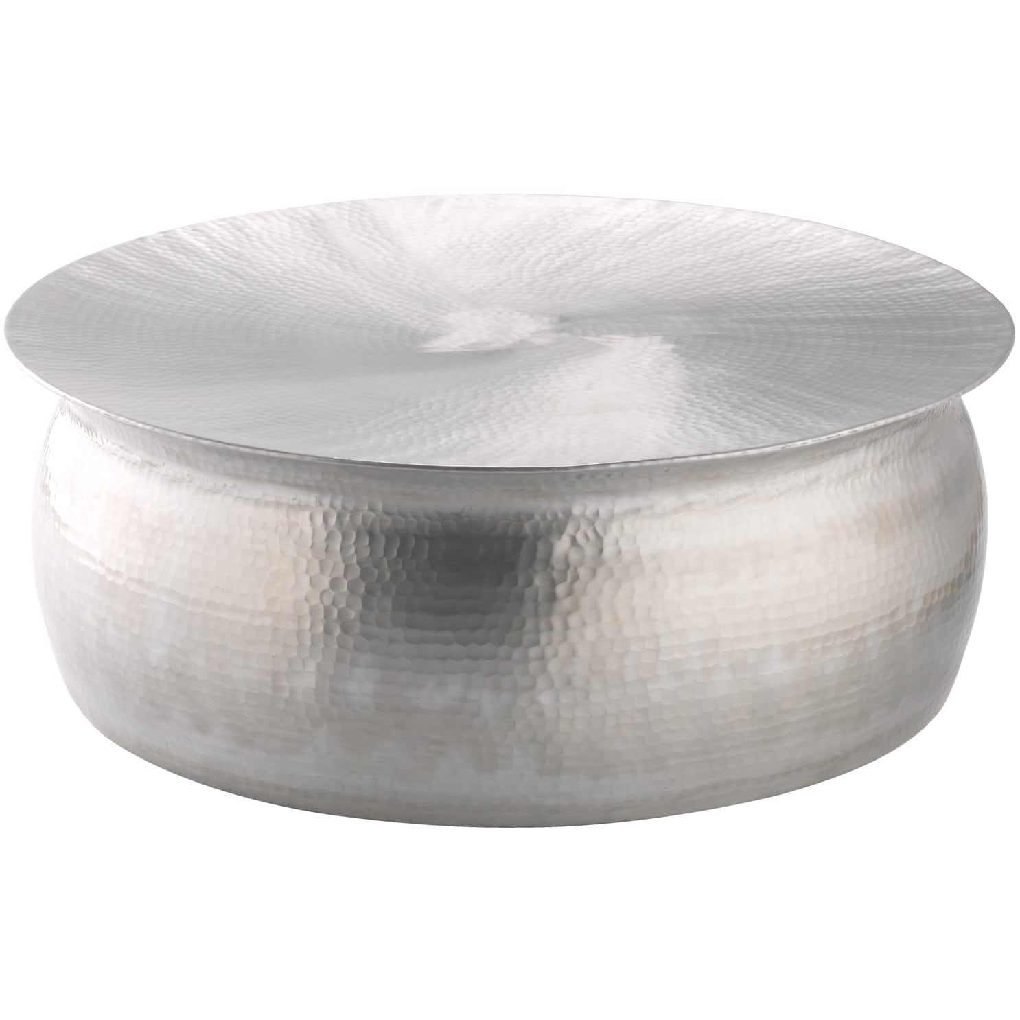 Polished Hammered Coffee Table Free Shipping Today Overstock