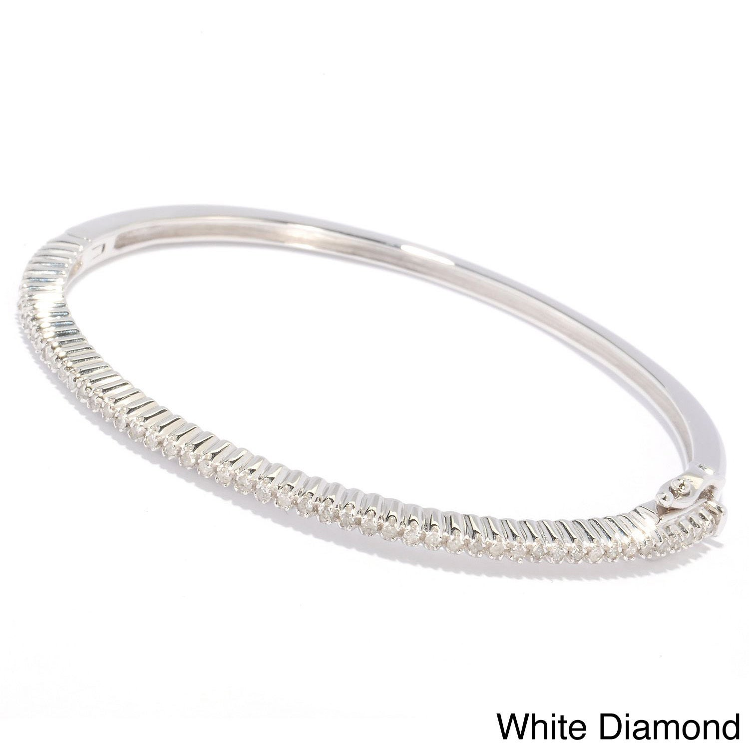 hinged diamond bracelet diamonds silver sterling bangle p carat blue jewelry white bangles in