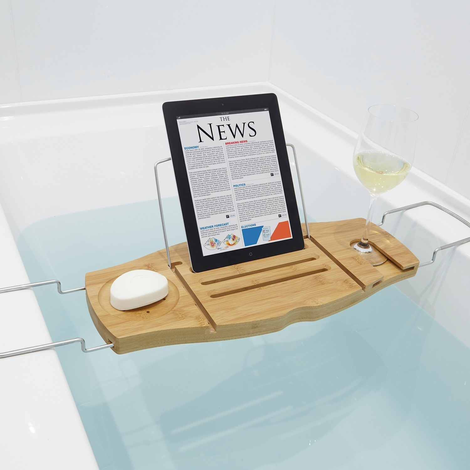dish sponge slip non bathtub bath extending htm p tray caddy wide with product sides grip ybmhome soap white accessories glass holder shower wine