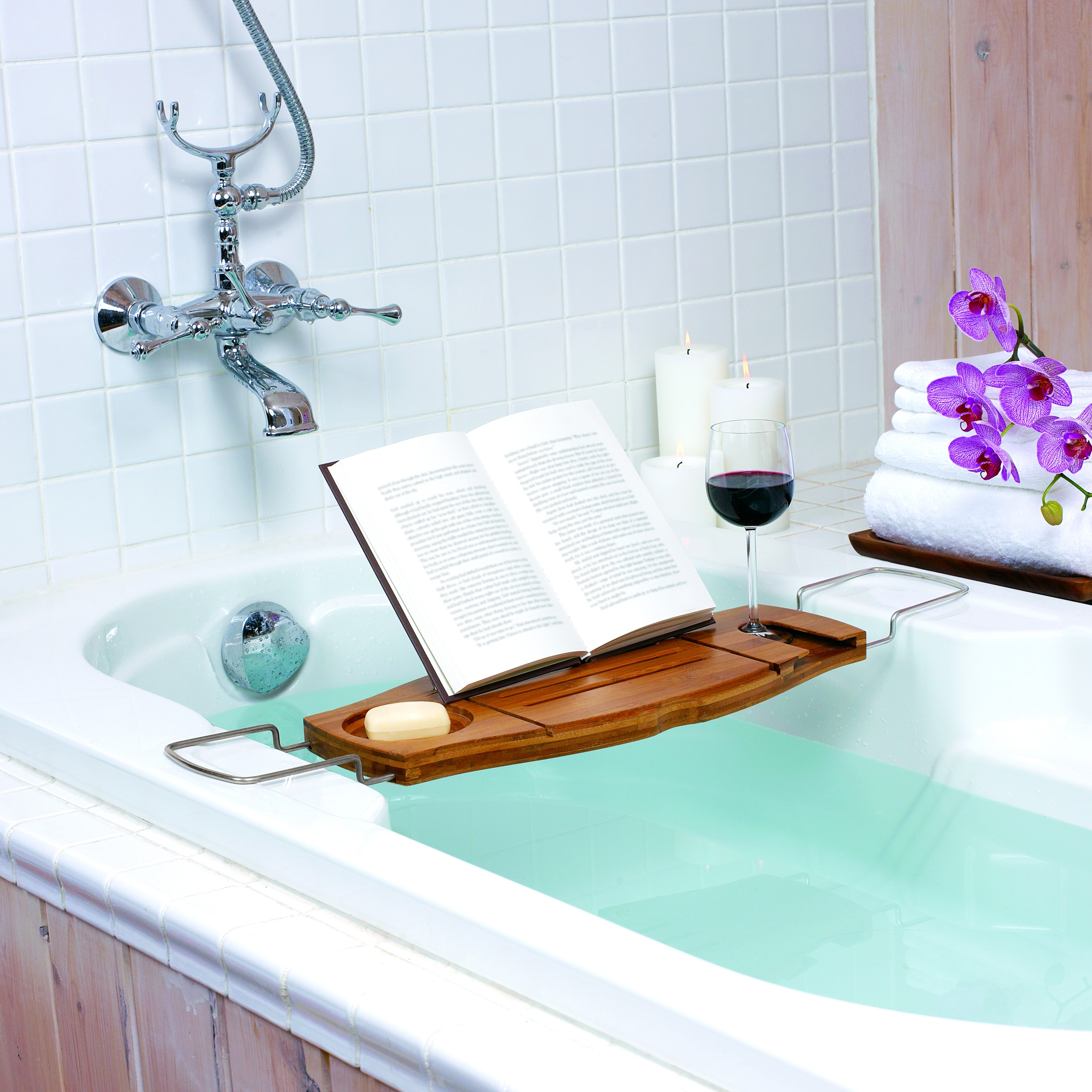 Shop Umbra Aquala Bamboo Bathtub Caddy - On Sale - Free Shipping On ...