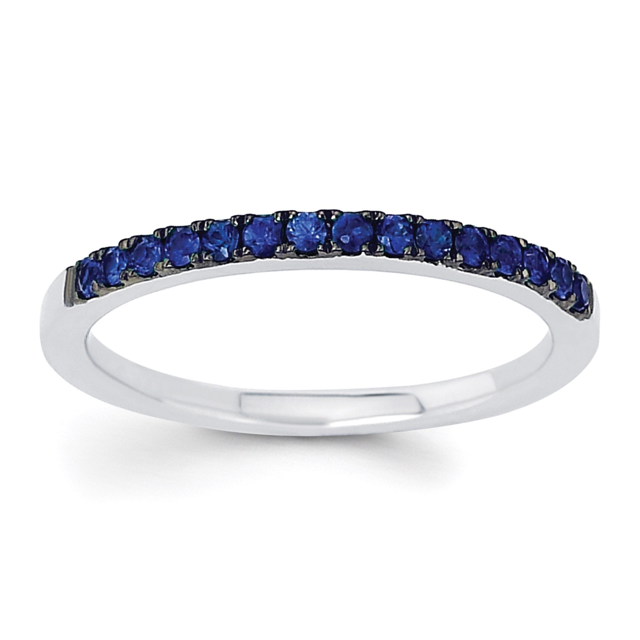 sapphire white gold rings diamond ring engagement carat pin blue