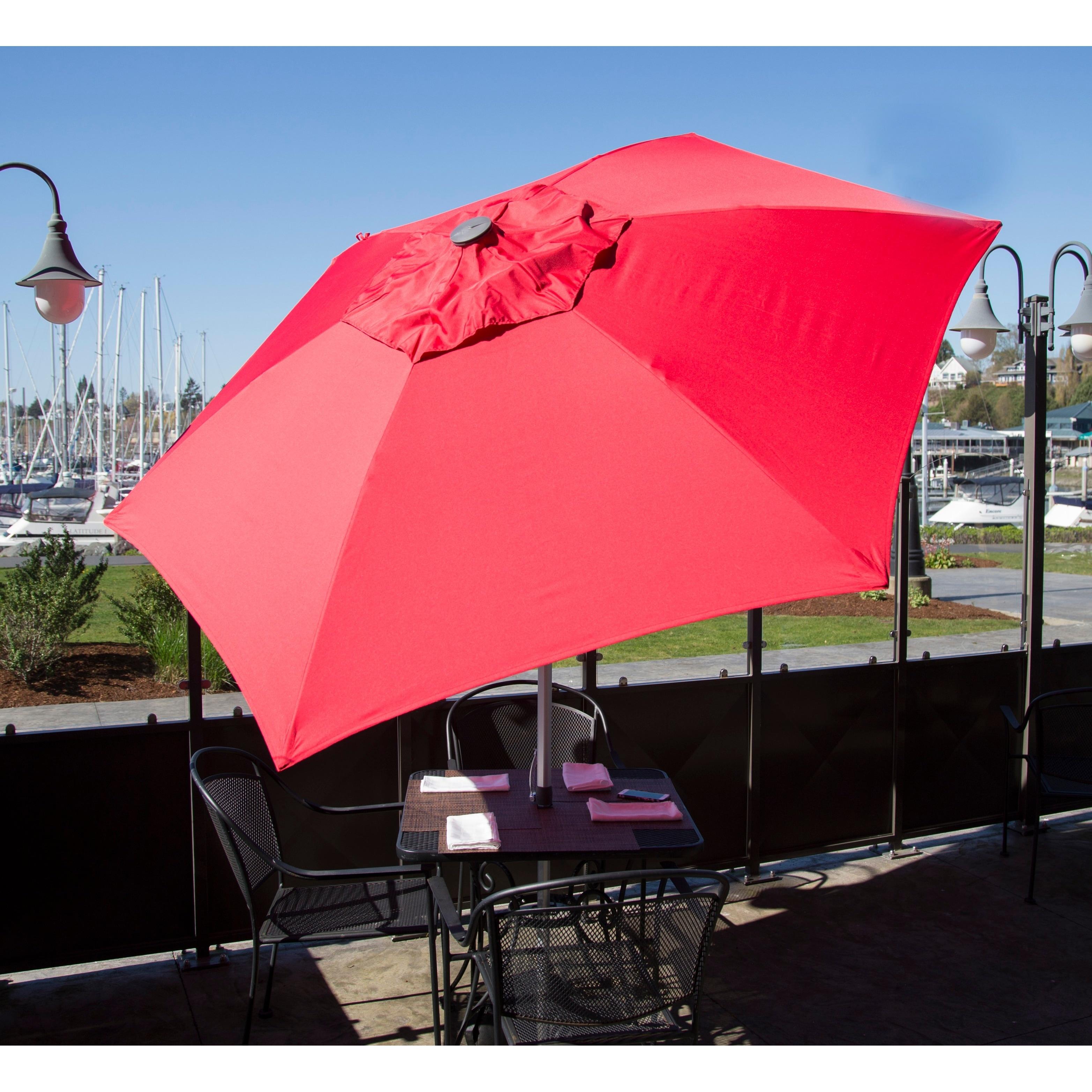 Doppler Market 8 5 foot Patio Umbrella Free Shipping Today