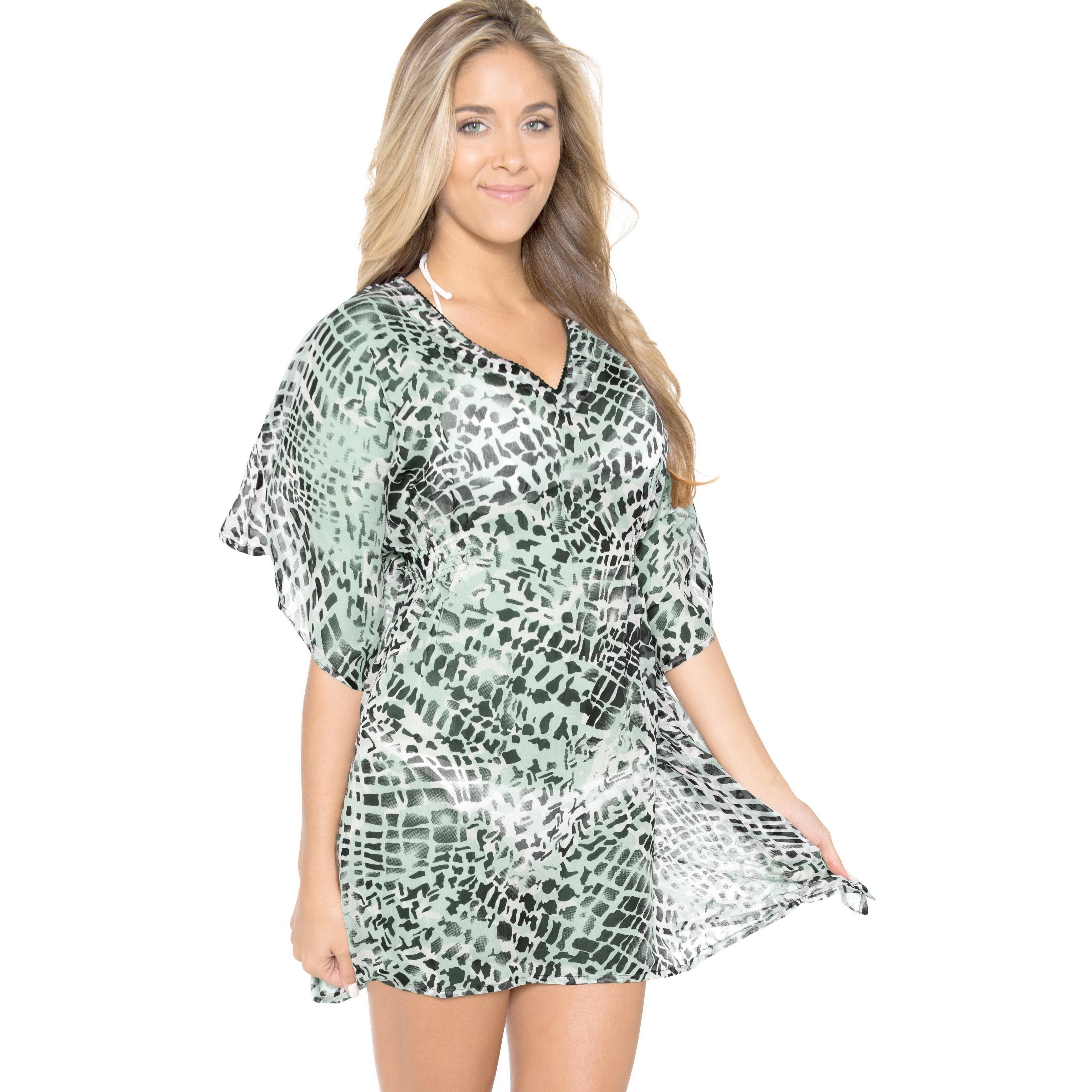079e86c8442 La Leela Pair UP Bathing Suit Swimwear Hawaii Miami Resortwear Bikini Cover  up Green