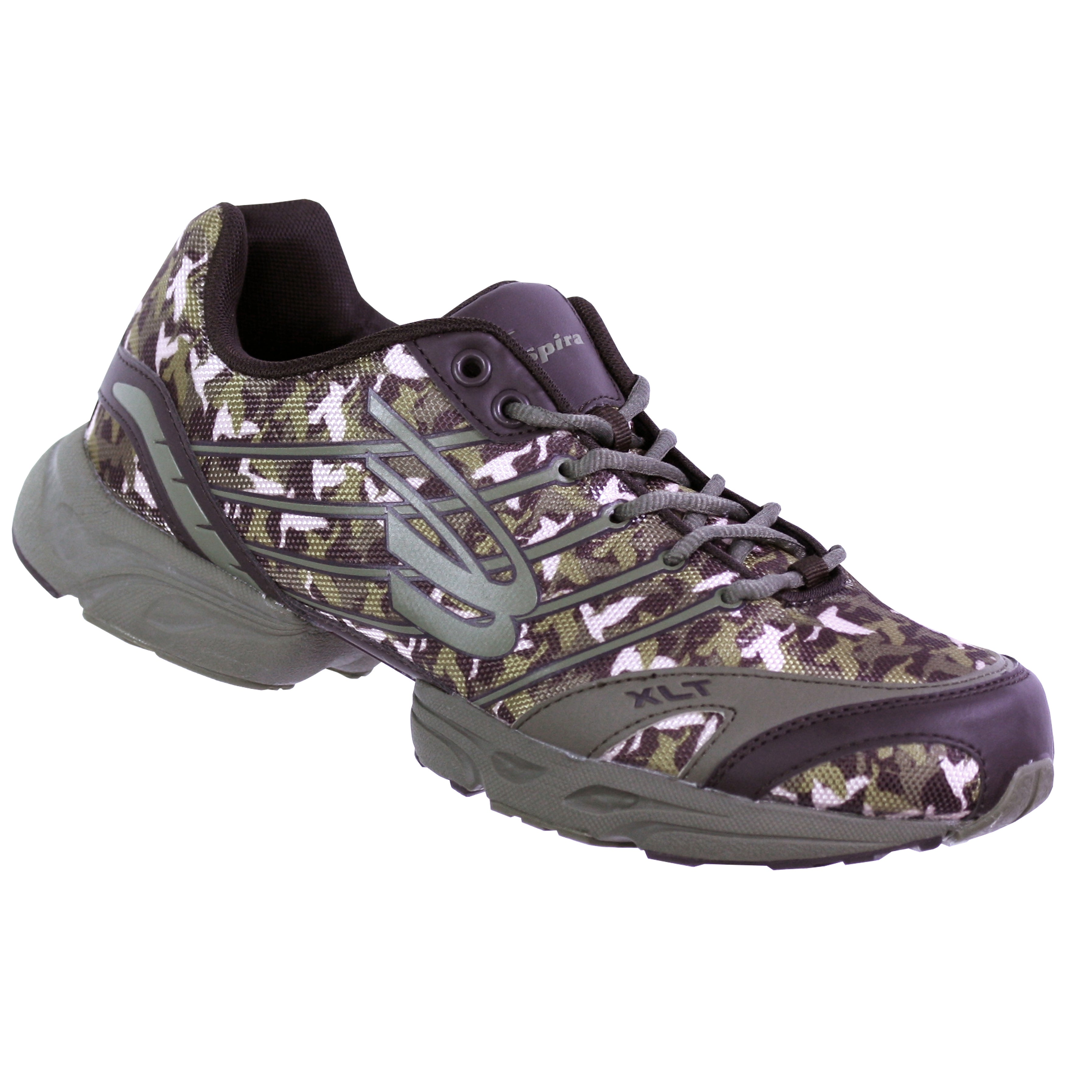 Shop Duck Dynasty by Spira Men's Olive/ Brown Camo Running Shoes - Free  Shipping Today - Overstock.com - 9599174