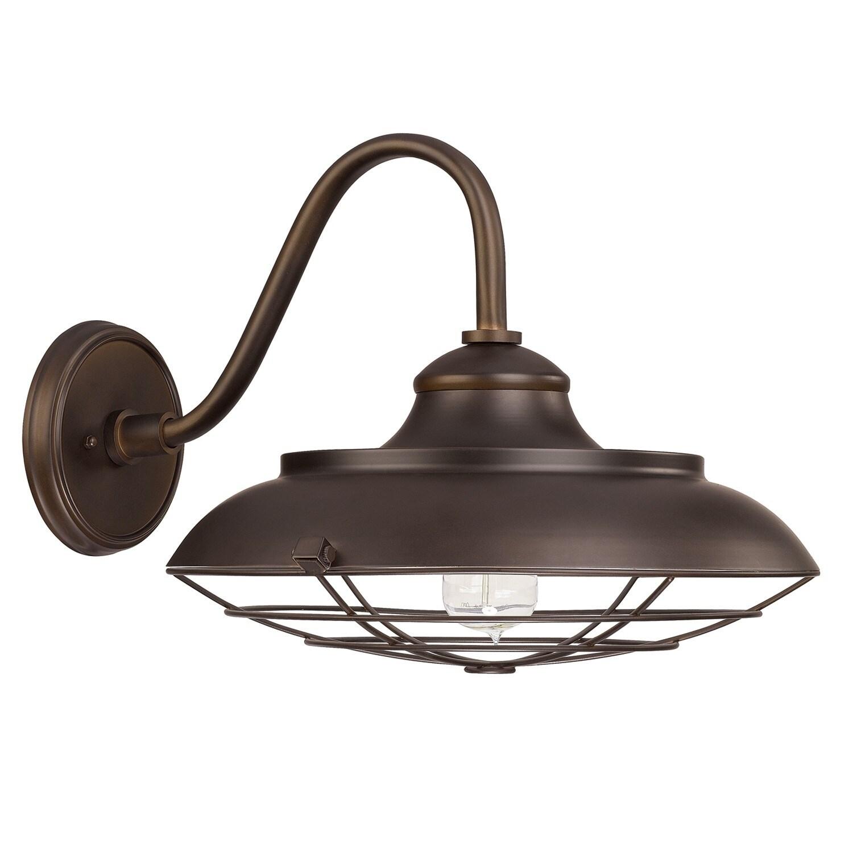 Capital lighting barn style 1 light burnished bronze wall lantern light
