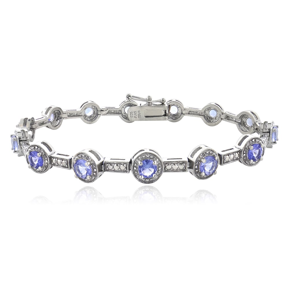 bracelet tanzanite tcw lock gold with silver effy sterling jewelry yellow