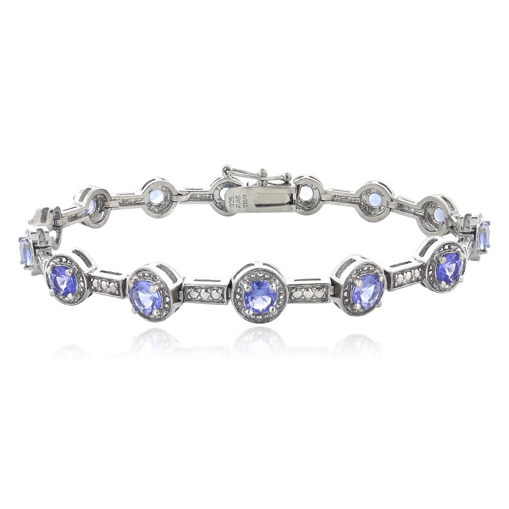 tanzanite bracelet with yellow in tw diamonds gold