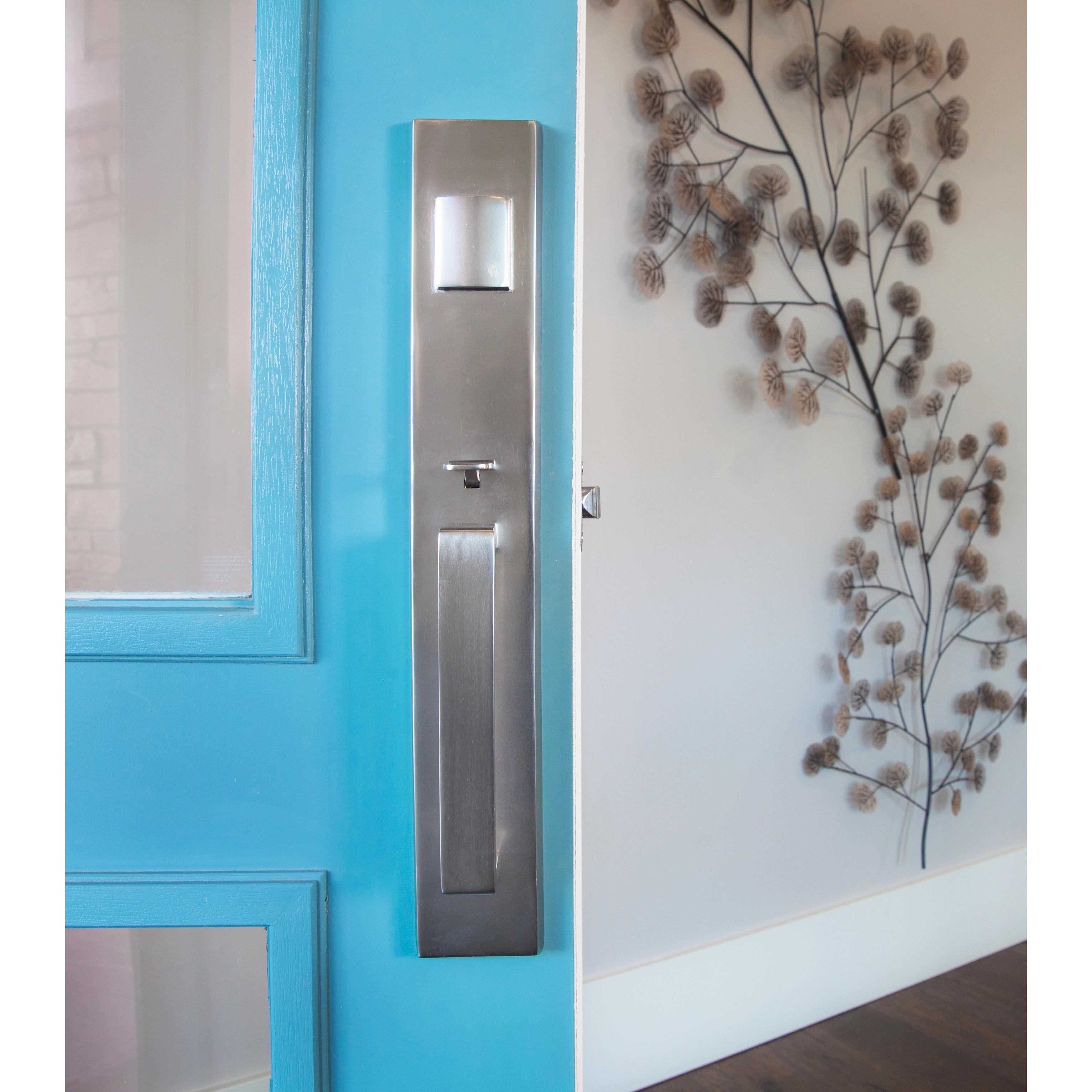 Shop Sure-Loc Vail Front Door Handleset with Nickel Interior Lever ...