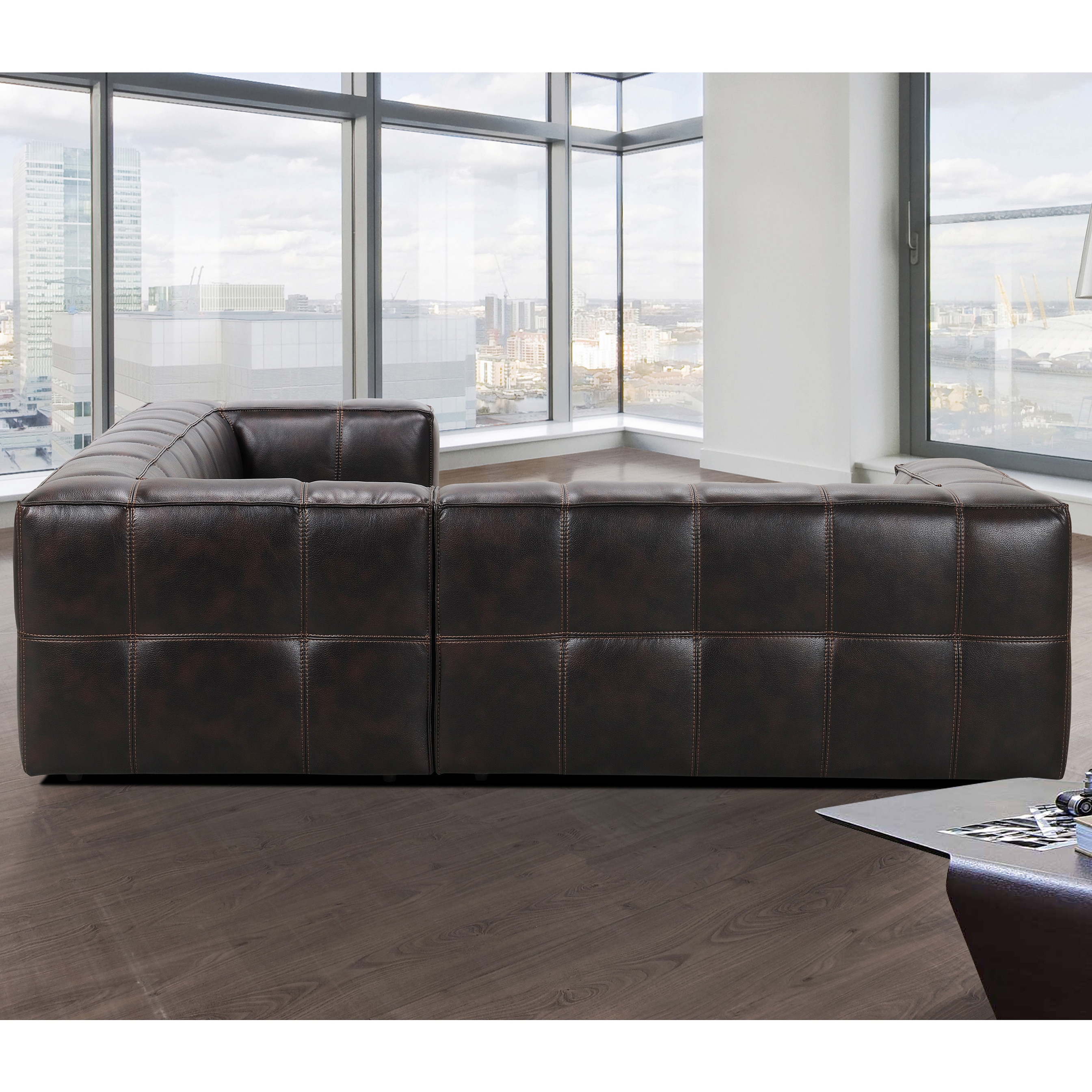 Shop Athens Memory Foam Sectional Sofa   Free Shipping Today    Overstock.com   9601781
