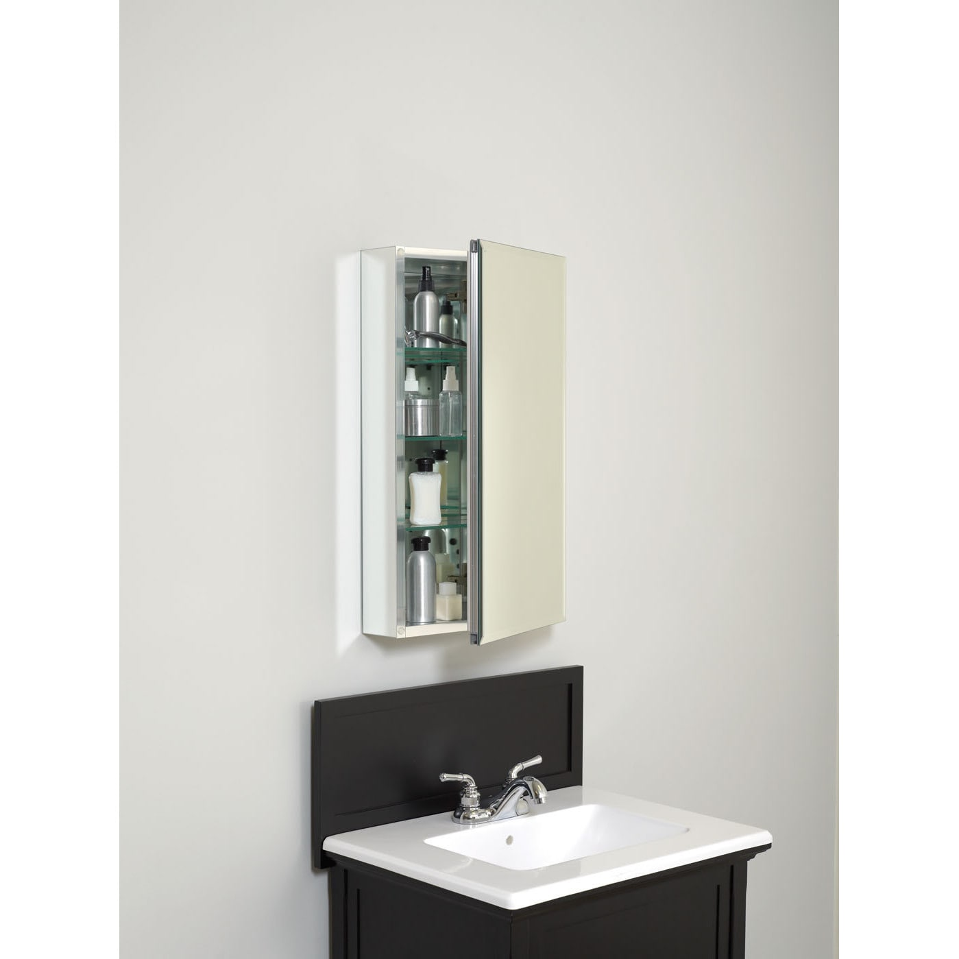Zenith Frameless Aluminum 26 Inch Medicine Cabinet Free Shipping Today 16788551