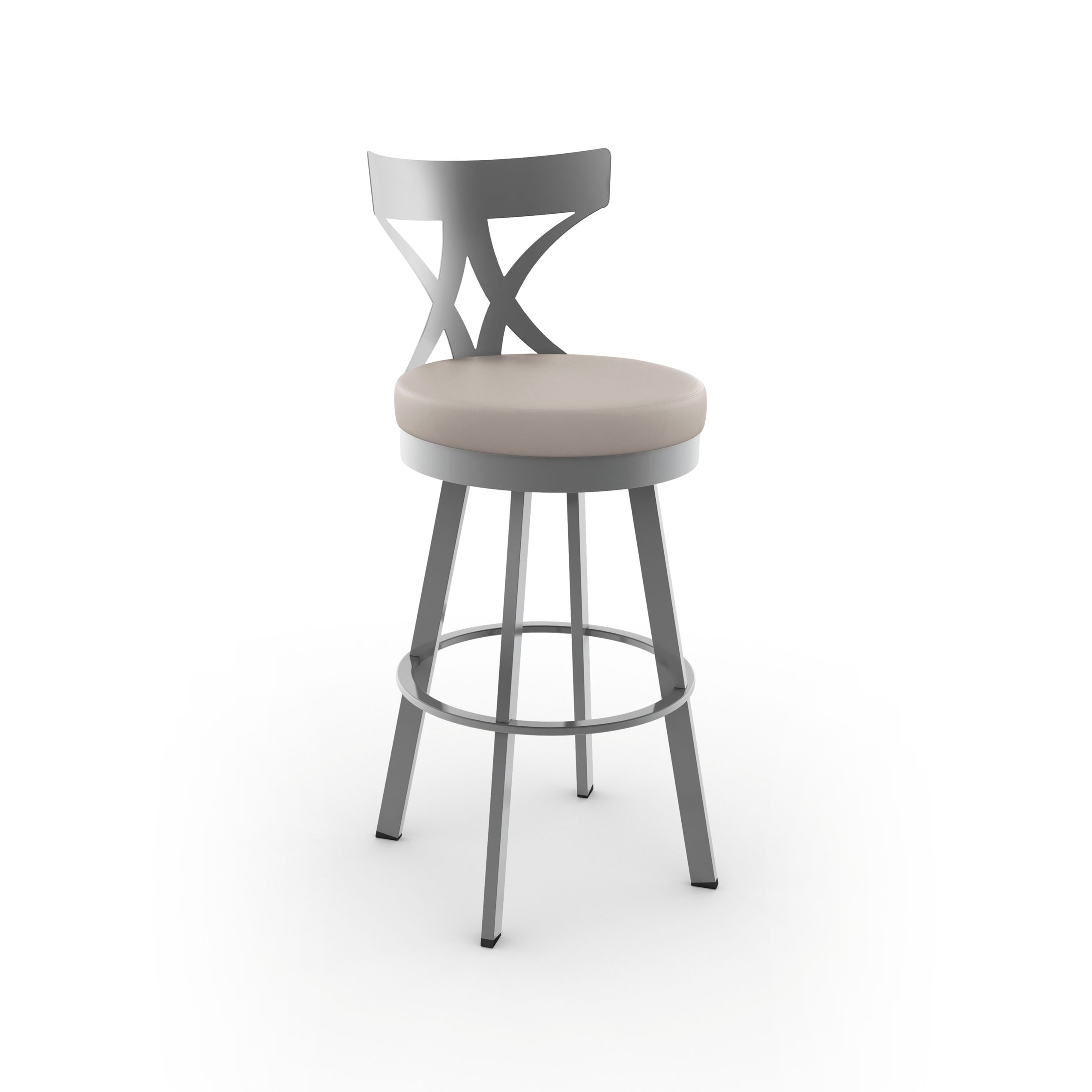 Shop Amisco Washington 30 Inch Metal Swivel Bar Stool Free