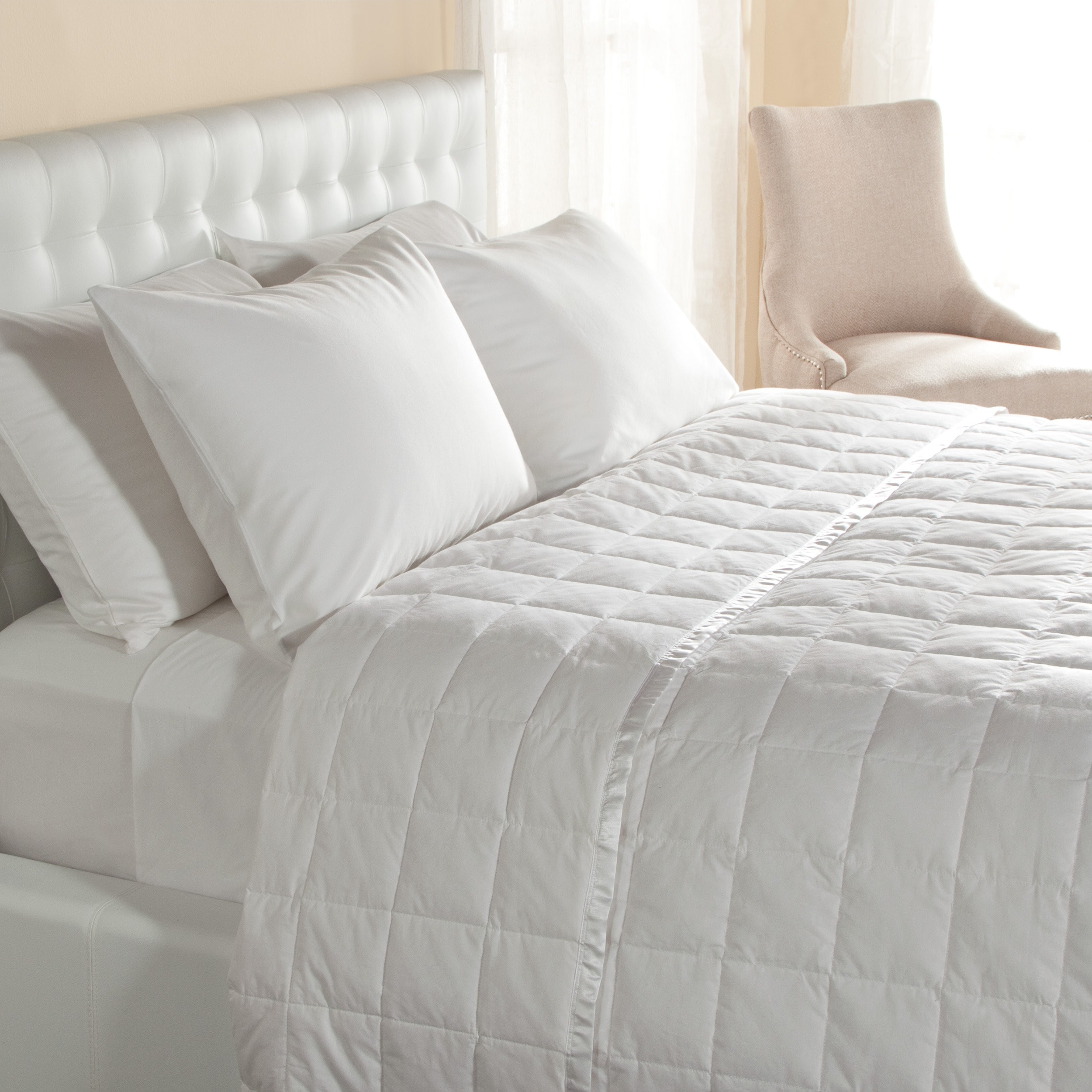 ... lightweight oversized down blanket with satin trim free shipping today  16789389 ... fe7afa2c0