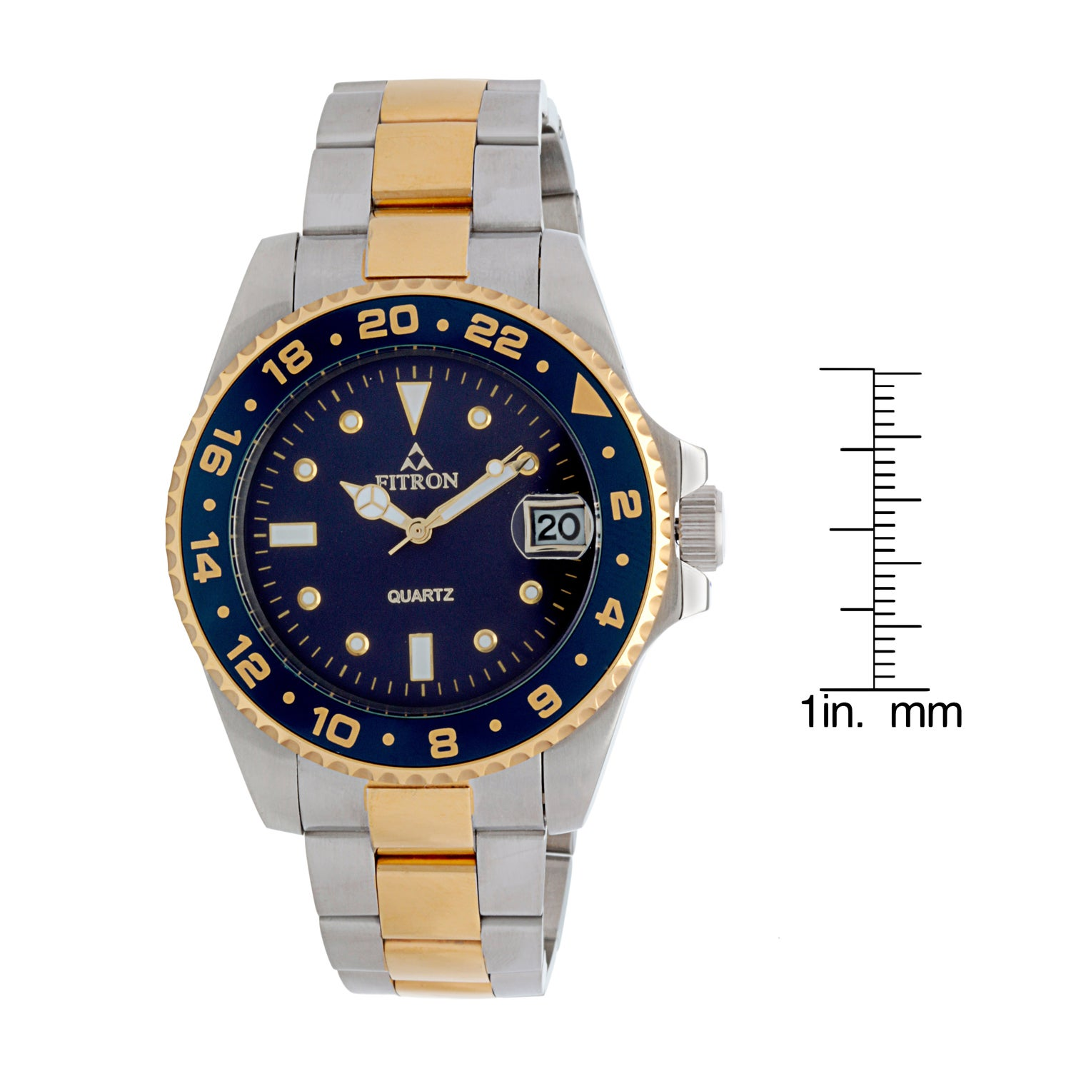 a0e608d85fe Shop Fitron Men s Stainless Steel Watch - Free Shipping Today ...