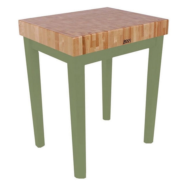 John Boos Basil Green 36 X 24 Cutting Board Table Cu Cb3024 Bs Henckels 13 Piece Knife Block Set Free Shipping Today 9605541