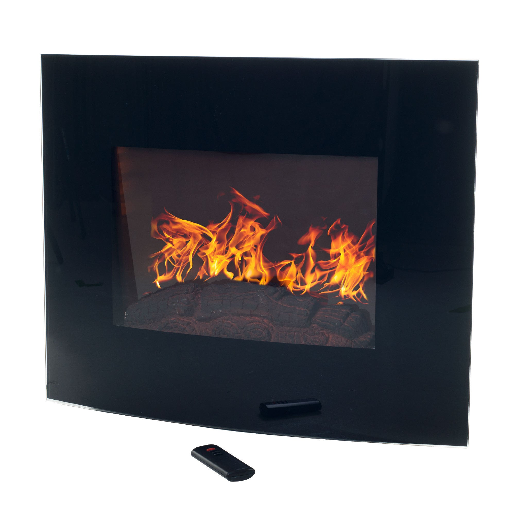 mount modern full with screens electric glass door screen wall of fireplace corner size curved