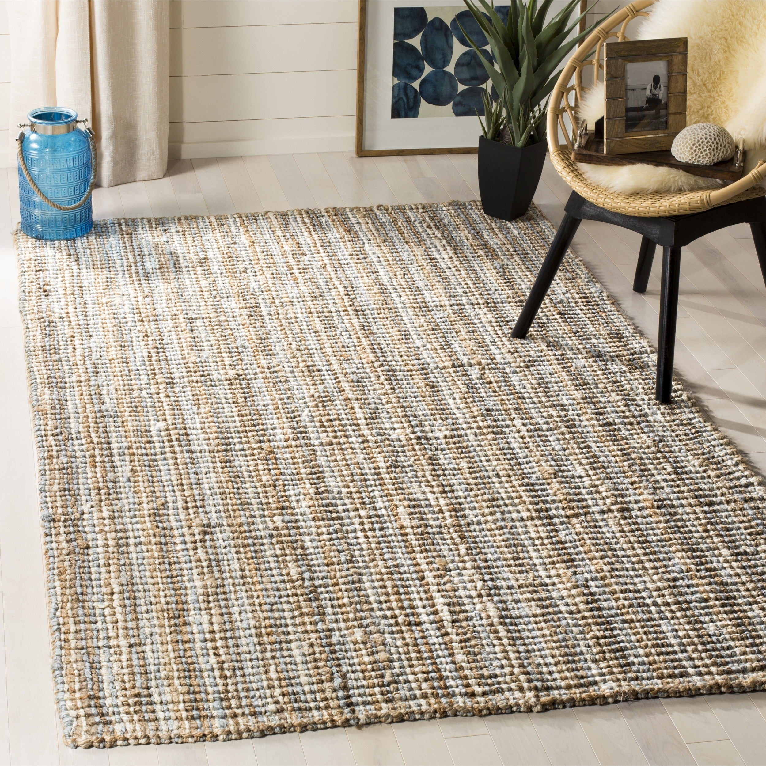 Safavieh Casual Natural Fiber Hand Woven Grey Chunky Thick Jute Rug 3 X 5 Free Shipping Today Com 9608961