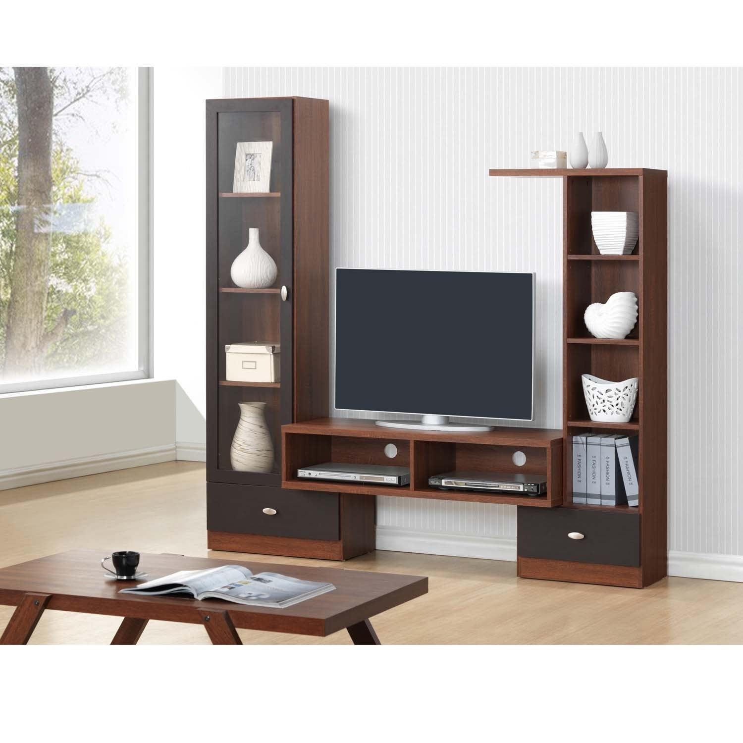 Shop Baxton Studio Empire Sonoma Oak Finishing Modern TV Stand ...