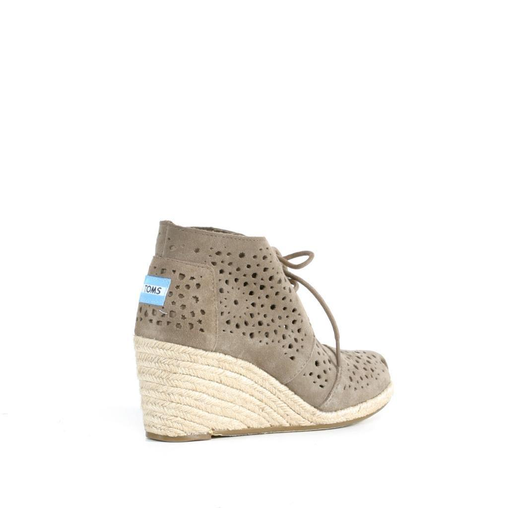 01d545e3b96 Shop Toms Taupe Moroccan Cutout Desert Wedge - Free Shipping Today -  Overstock - 9610137