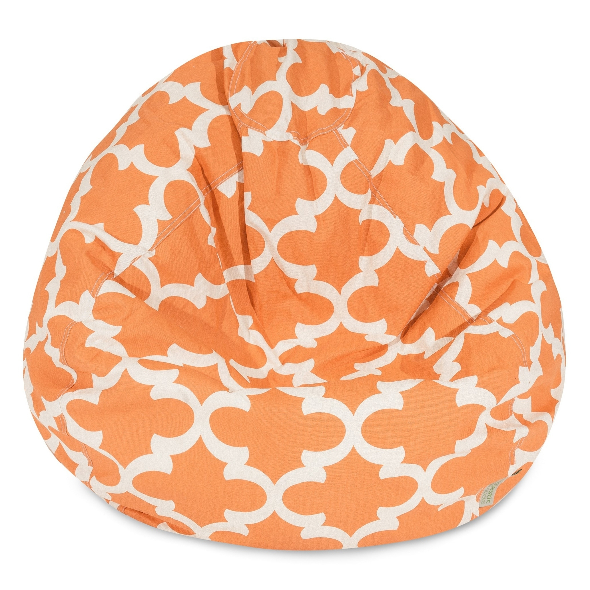 Majestic Home Goods Trellis Classic Bean Bag Chair Small/Large