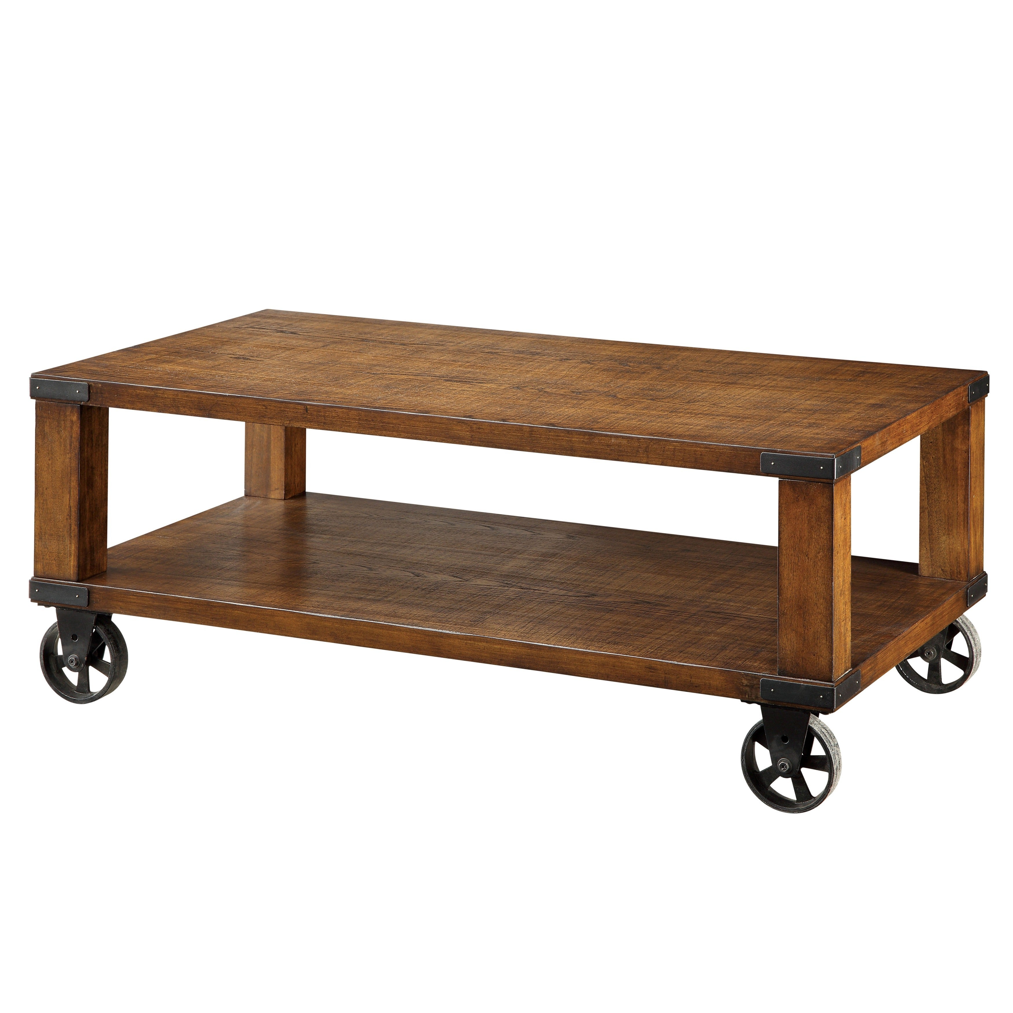 Furniture Of America Royce Modern Industrial Coffee Table   Free Shipping  Today   Overstock.com   16797079