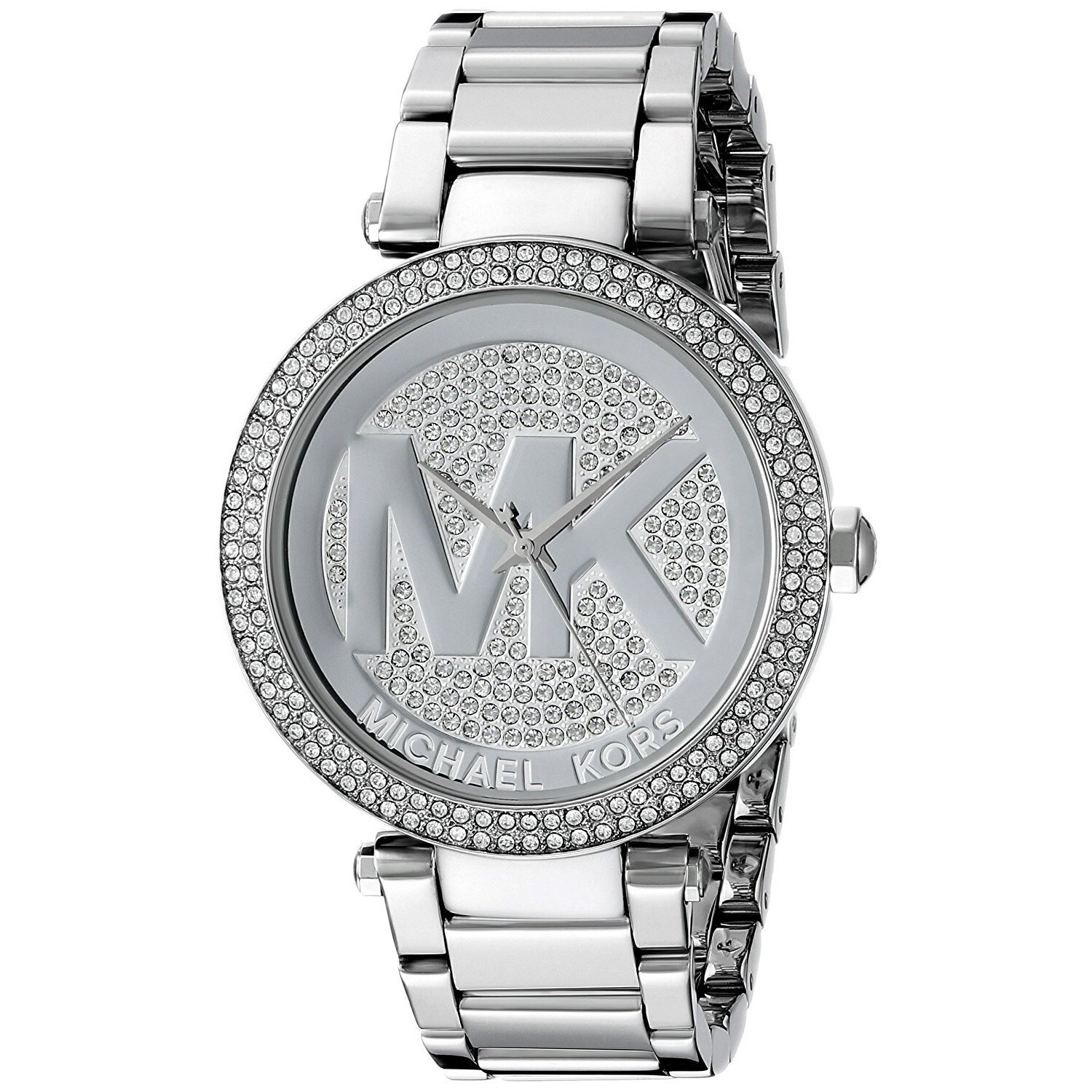 c7316531fb86 Michael Kors Women s Parker MK5925 Silver Stainless-Steel Quartz Watch with  Silver Dial
