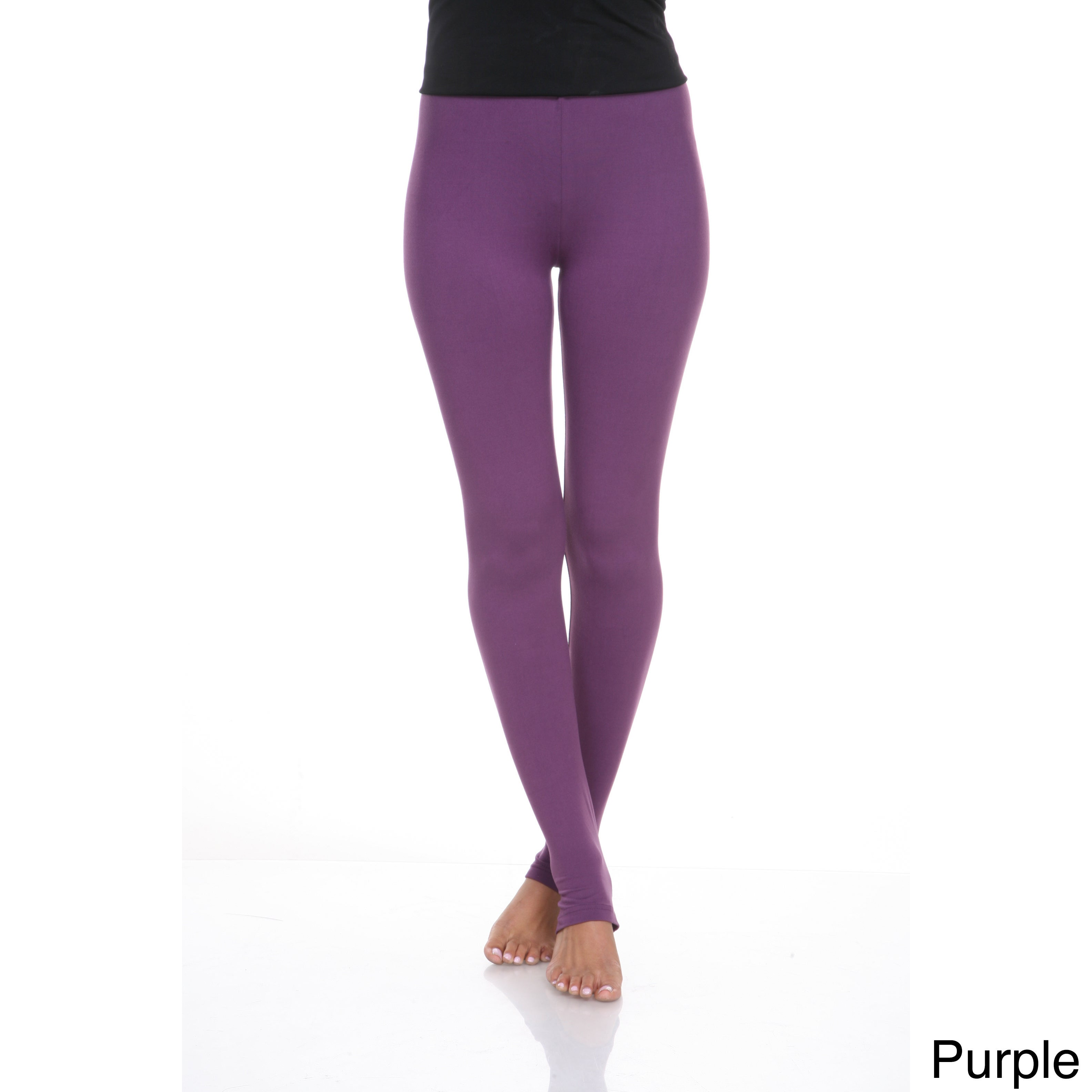 b13444dc20df65 Shop White Mark Women's Cotton Leggings - Free Shipping On Orders Over $45  - Overstock - 9613469