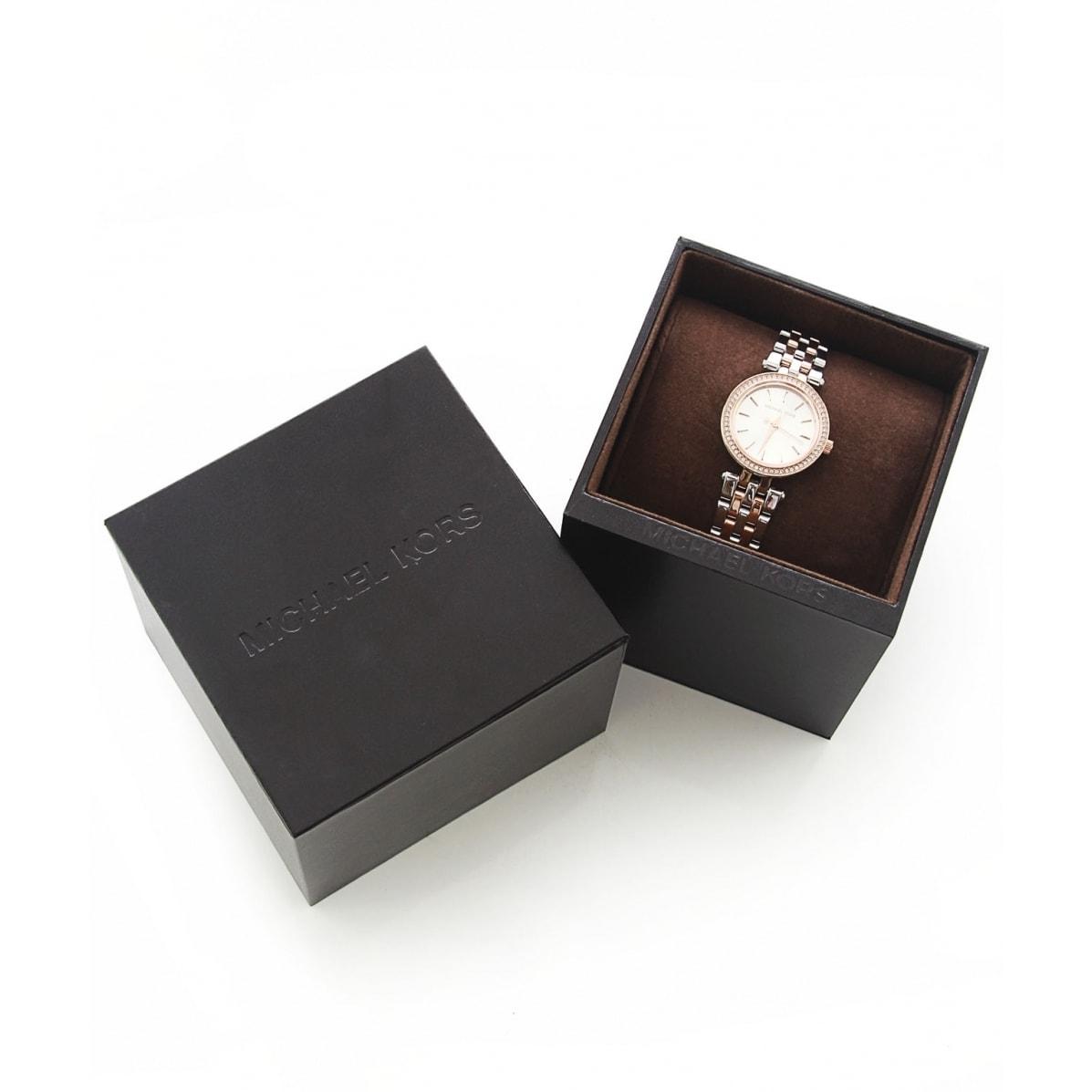de1ac91f435f Shop Michael Kors Women s MK3298 Petite Darci Two-tone Crystal Bezel Watch  - Free Shipping Today - Overstock - 9614004