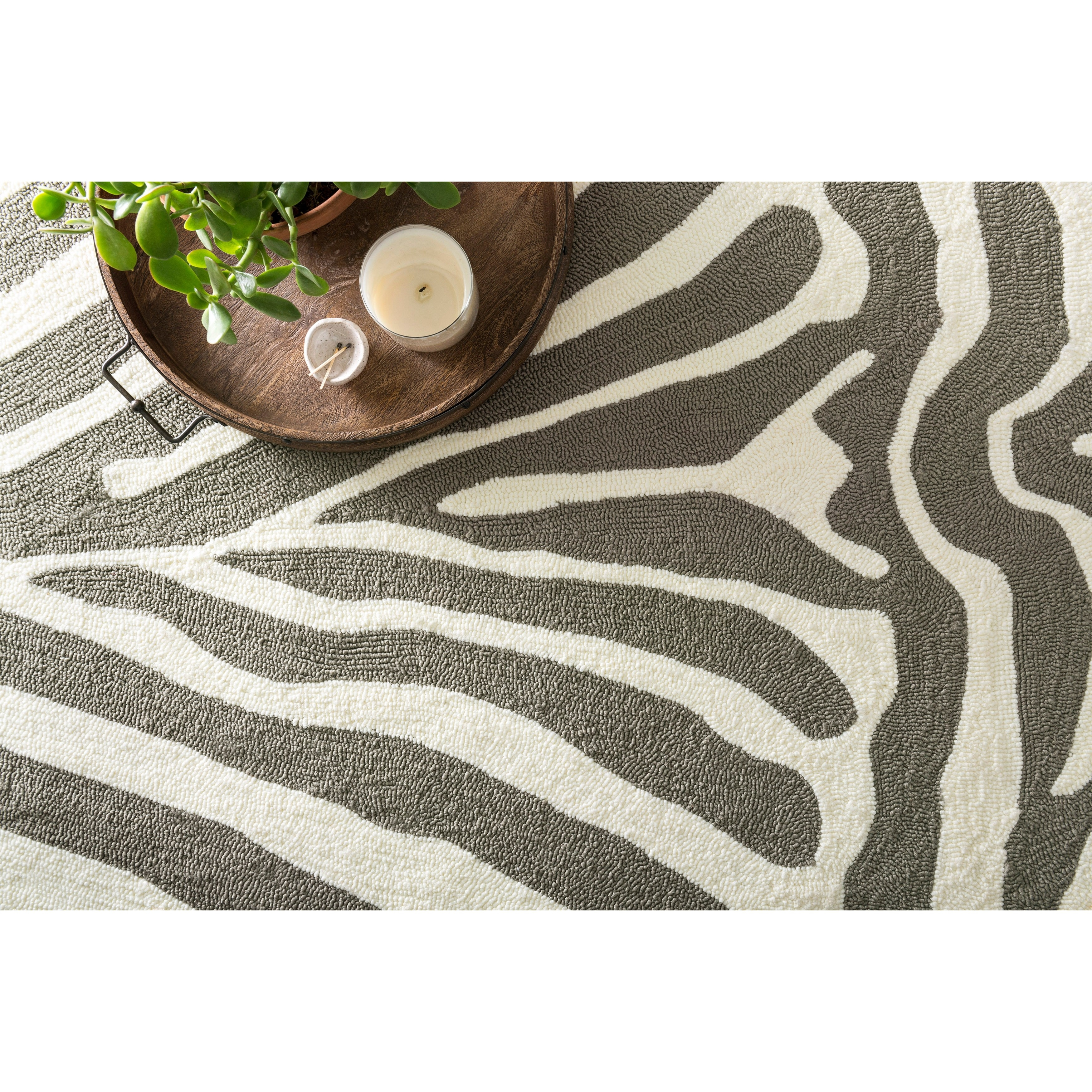 today zealand silk faux product shipping home zebra garden rug x free new overstock nuloom