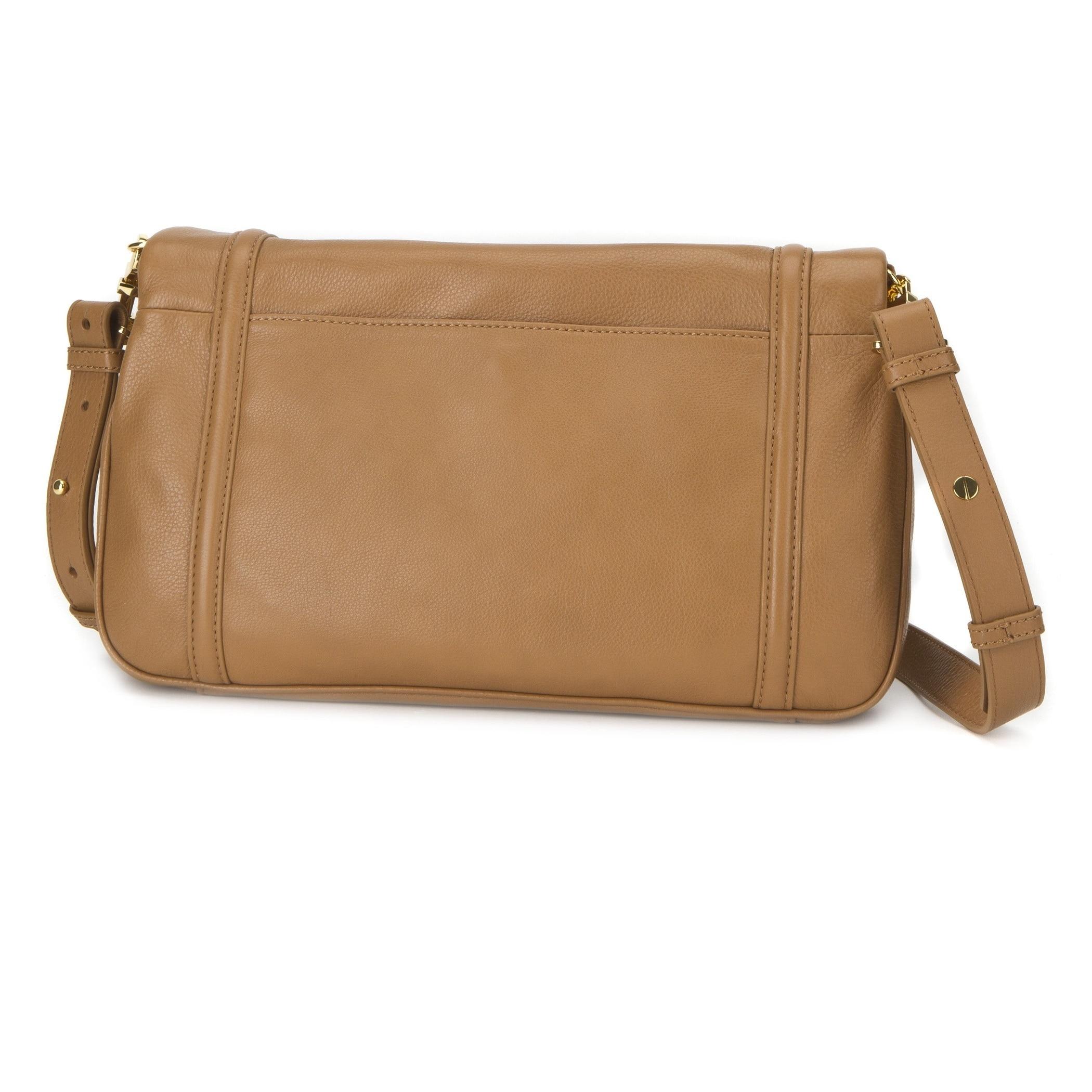 7033cc608e9798 Shop Tory Burch Amanda Foldover Royal Tan Messenger Bag - Free Shipping  Today - Overstock - 9616993