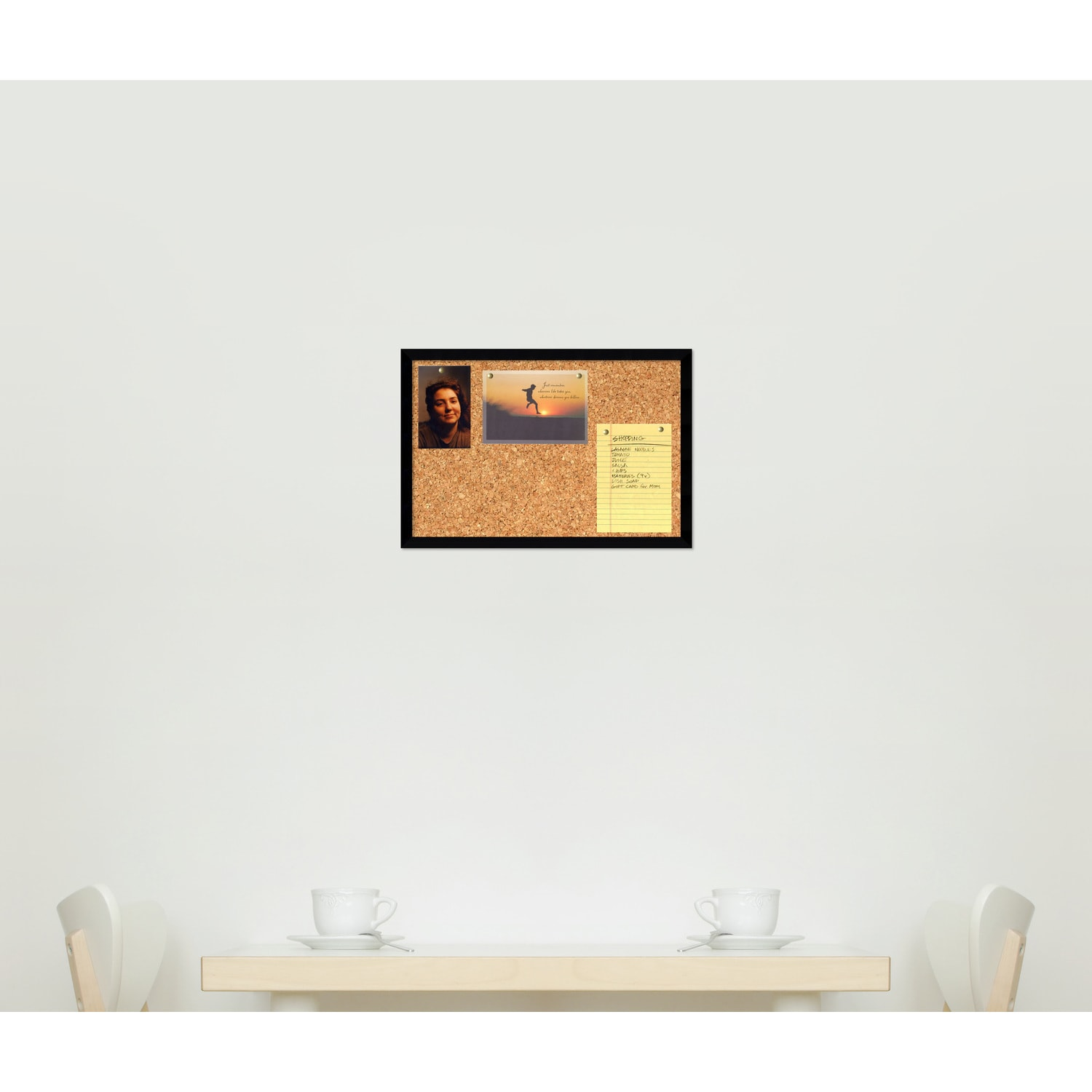 Svelte Noir 19 x 13 Small Message Cork Board - Free Shipping Today ...