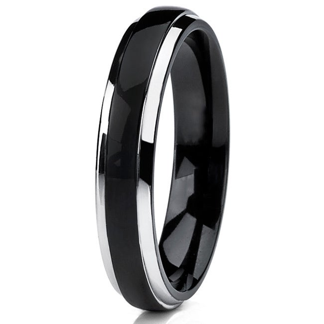 dp wedding mens plated jewelry rings line thin carbide band ring blue tungsten tusen size