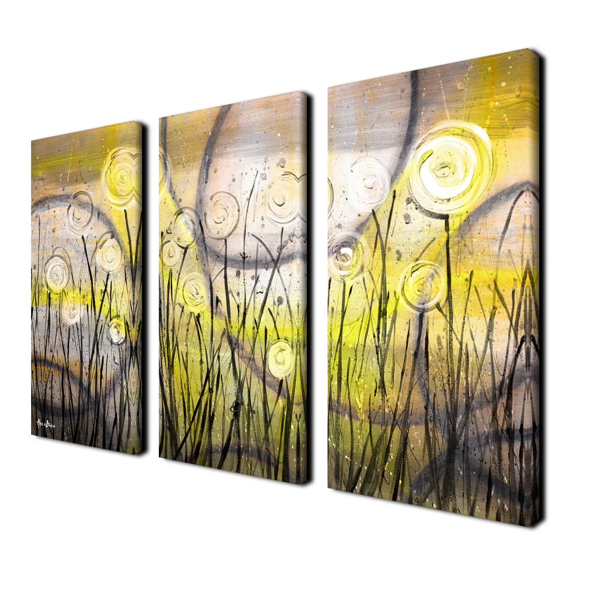 Ready2HangArt \'Painted Petals VI\' 3-piece Canvas Wall Art - Free ...