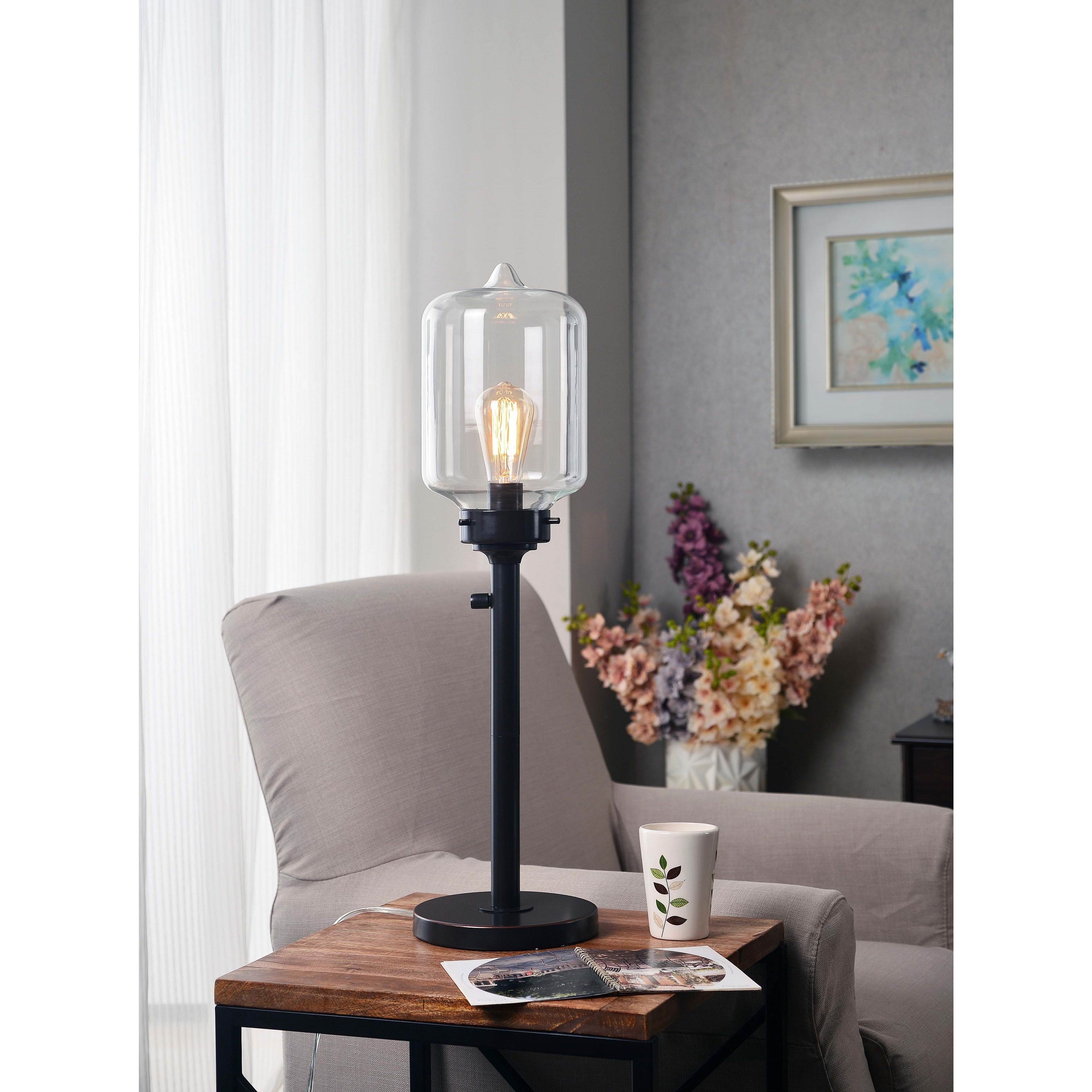 Shop Carbon Loft Mangano Oil Rubbed Bronze 28 Inch Table Lamp On