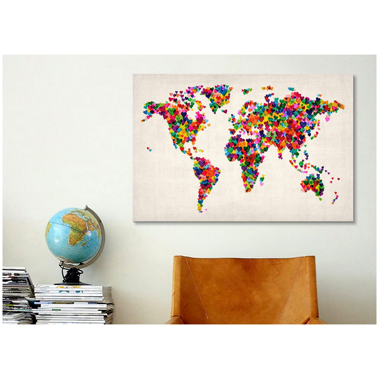 Icanvas michael thompsett world map hearts multicolor ii canvas icanvas michael thompsett world map hearts multicolor ii canvas print wall art free shipping today overstock 16810391 gumiabroncs Image collections