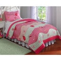 Garden Waves Microfiber 3-piece Quilt Set
